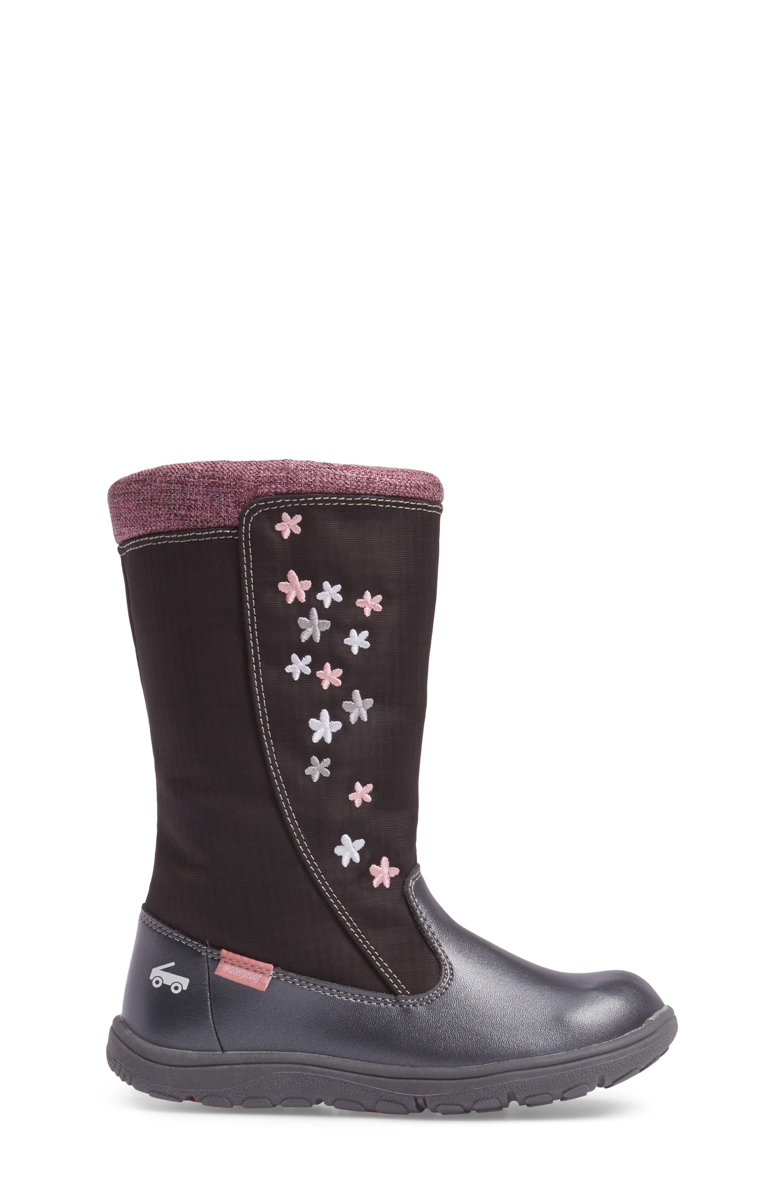'Hallie' Waterproof Boot,                             Alternate thumbnail 3, color,                             021
