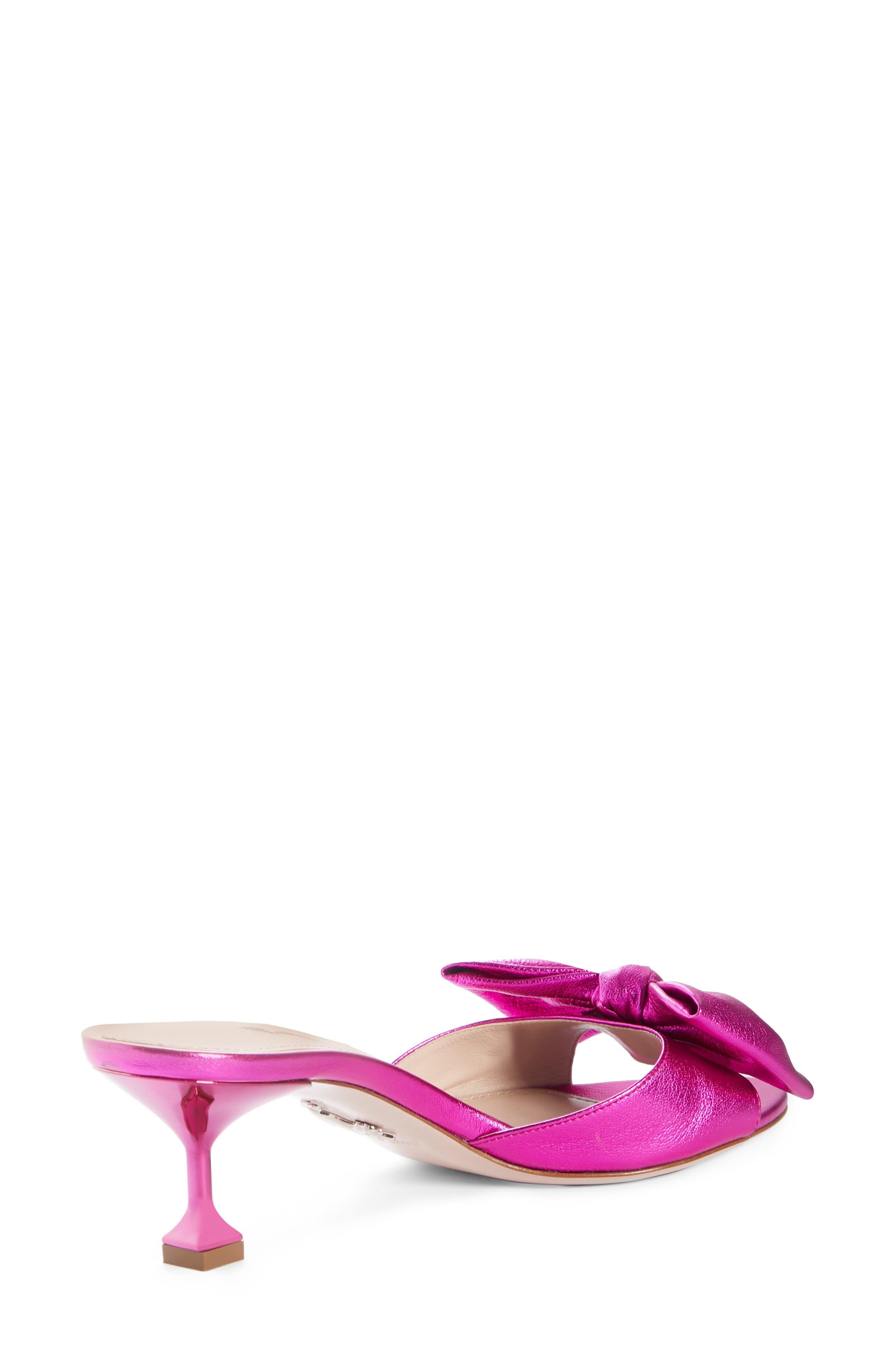 Bow Slide Sandal,                             Alternate thumbnail 2, color,                             FUCHSIA