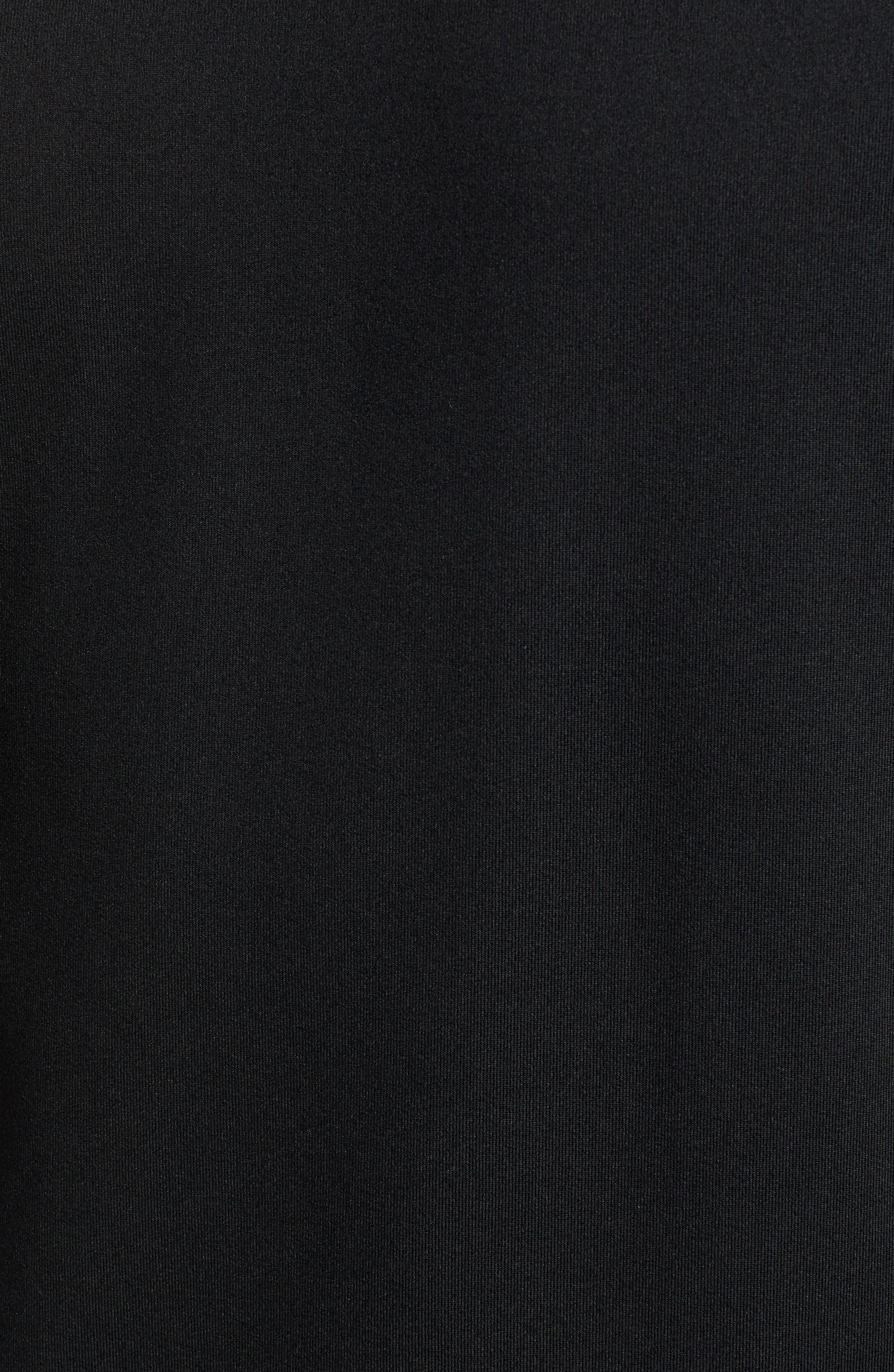 NIKE,                             Element Dry Crewneck Running T-Shirt,                             Alternate thumbnail 5, color,                             BLACK