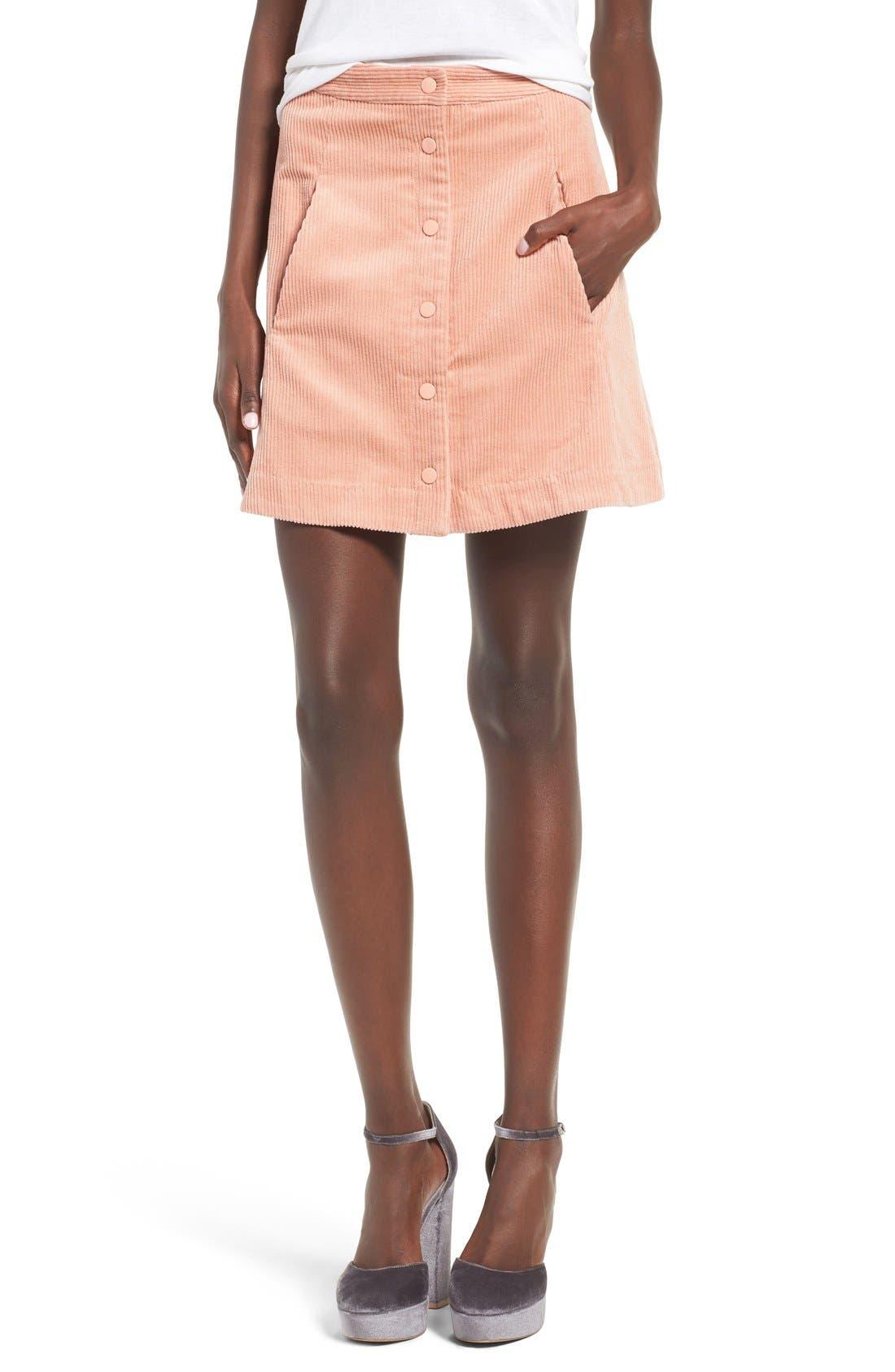 Irene Corduroy Miniskirt,                             Main thumbnail 1, color,                             650