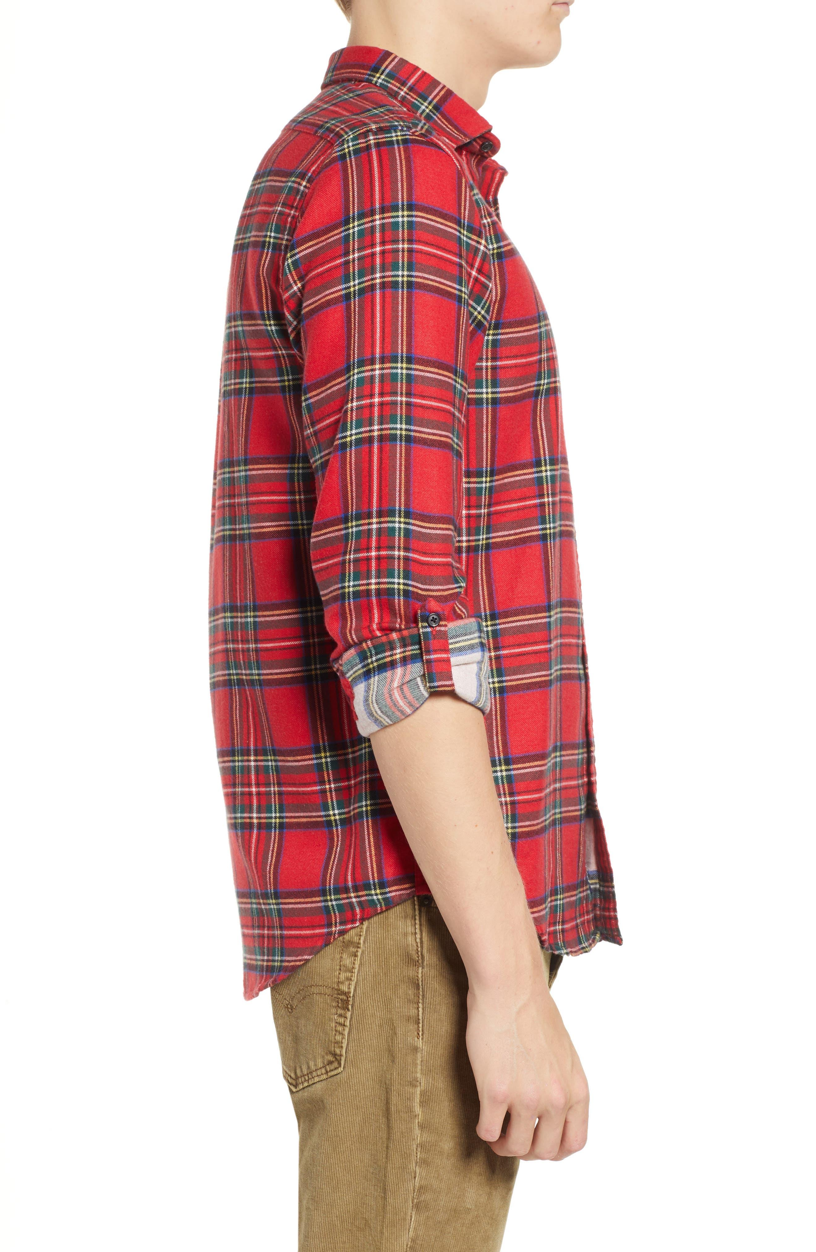 Plaid Flannel Shirt,                             Alternate thumbnail 4, color,                             COMBO A