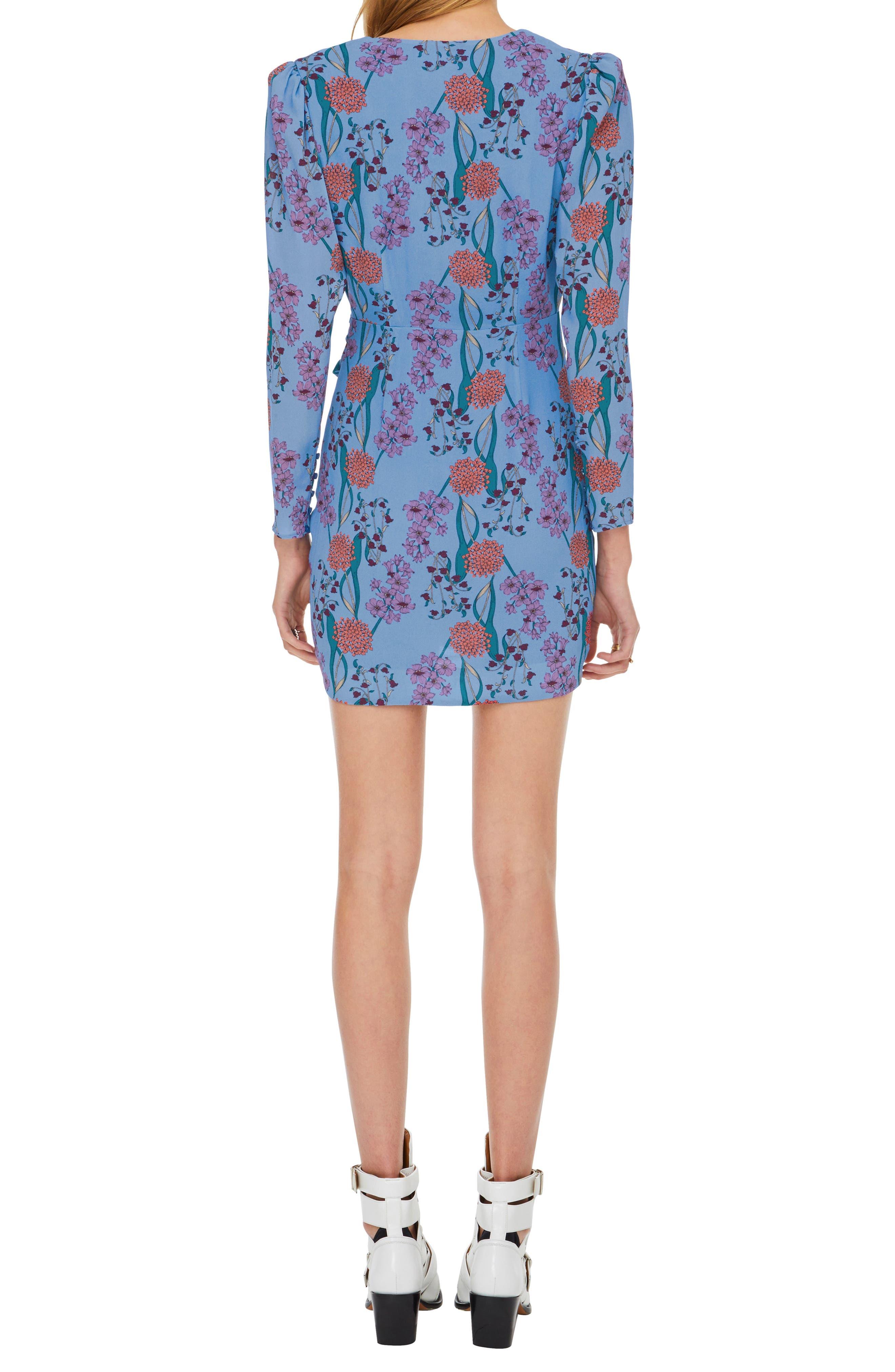 ASTR THE LABEL,                             Vignette Floral Print Dress,                             Alternate thumbnail 2, color,                             BLUEBELL FLORAL