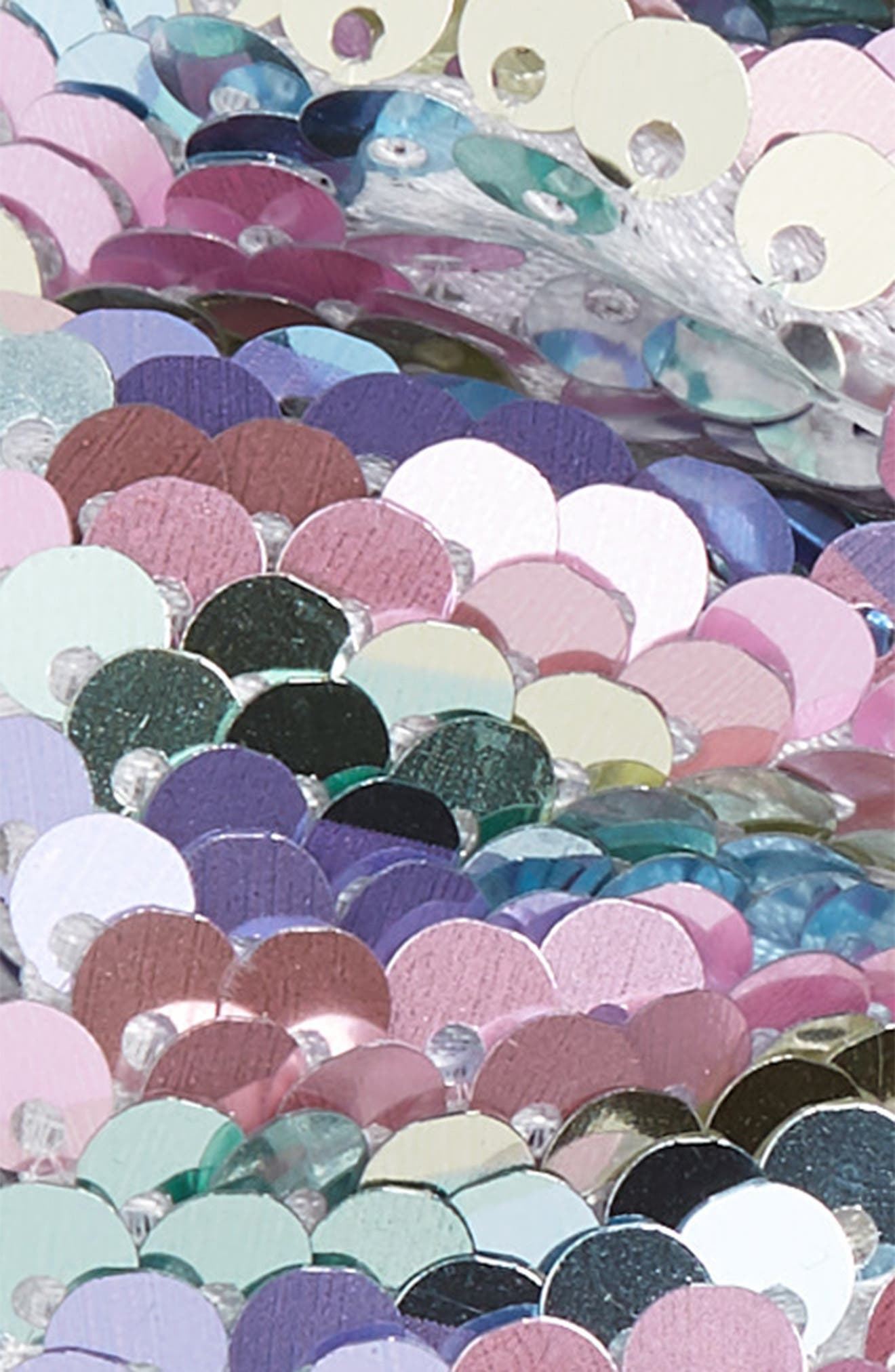Sequin Scrunchie,                             Alternate thumbnail 2, color,                             SILVER MULTI