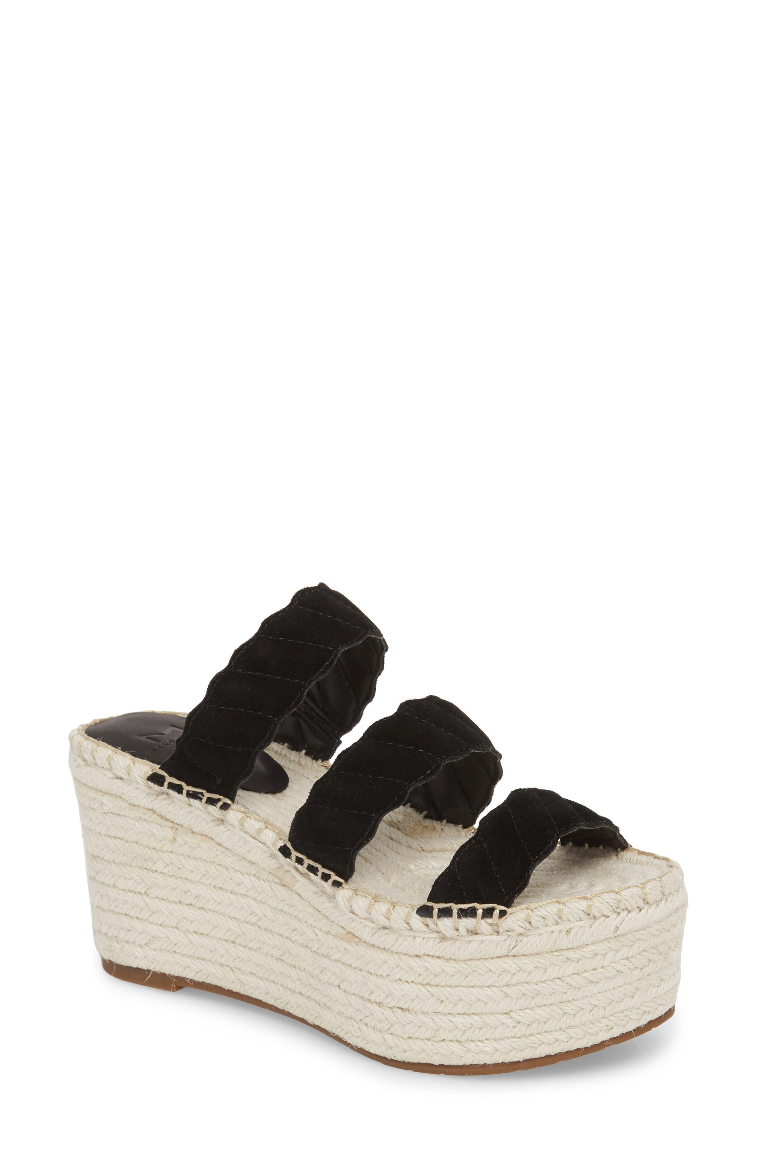 Rosie Espadrille Platform Sandal,                         Main,                         color, BLACK SUEDE