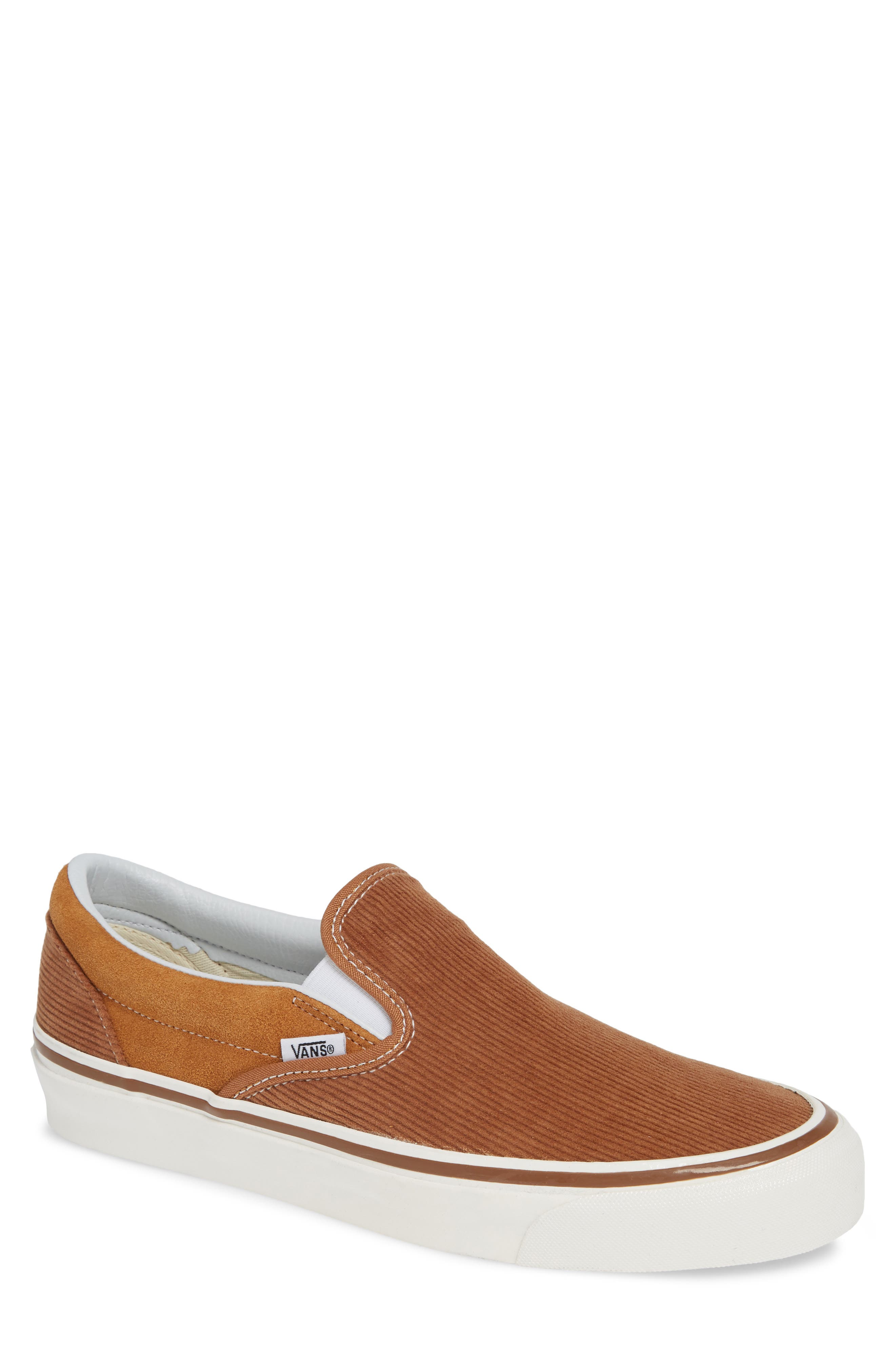 Classic 98 DX Slip-On Sneaker,                             Main thumbnail 1, color,                             BROWN/ CORDUROY