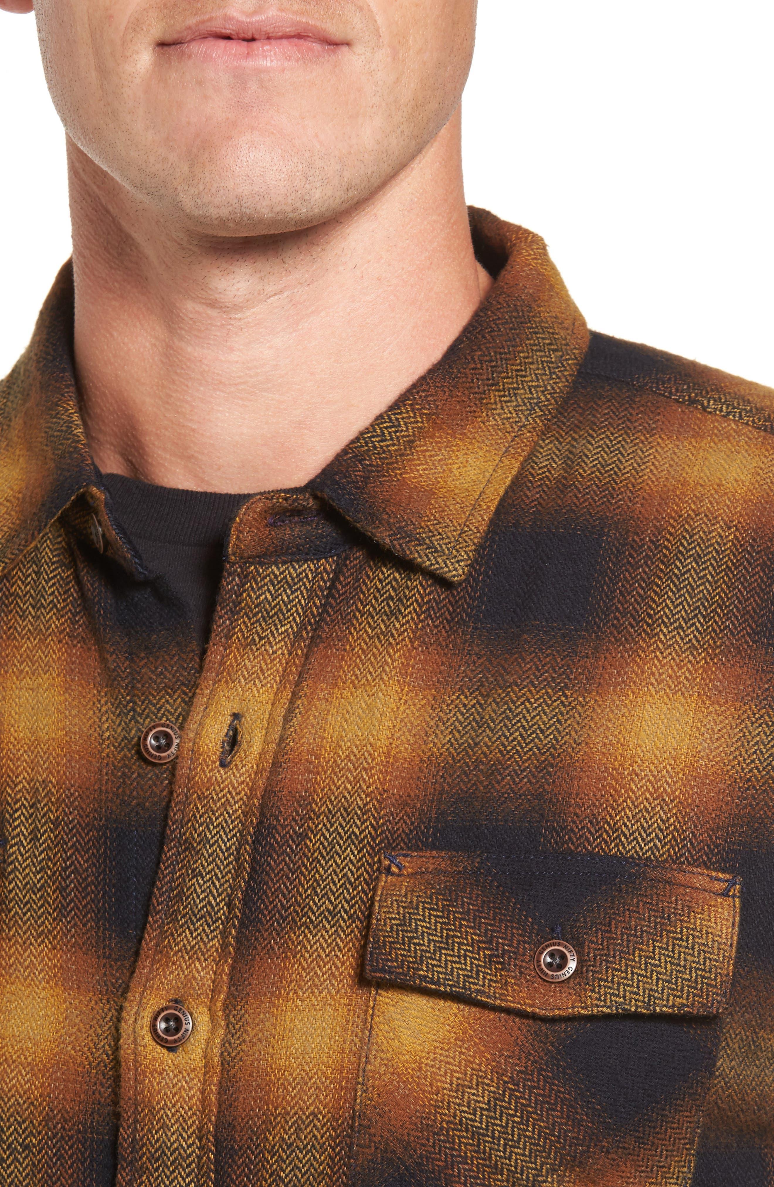 Truman Check Herringbone Shirt,                             Alternate thumbnail 4, color,                             200