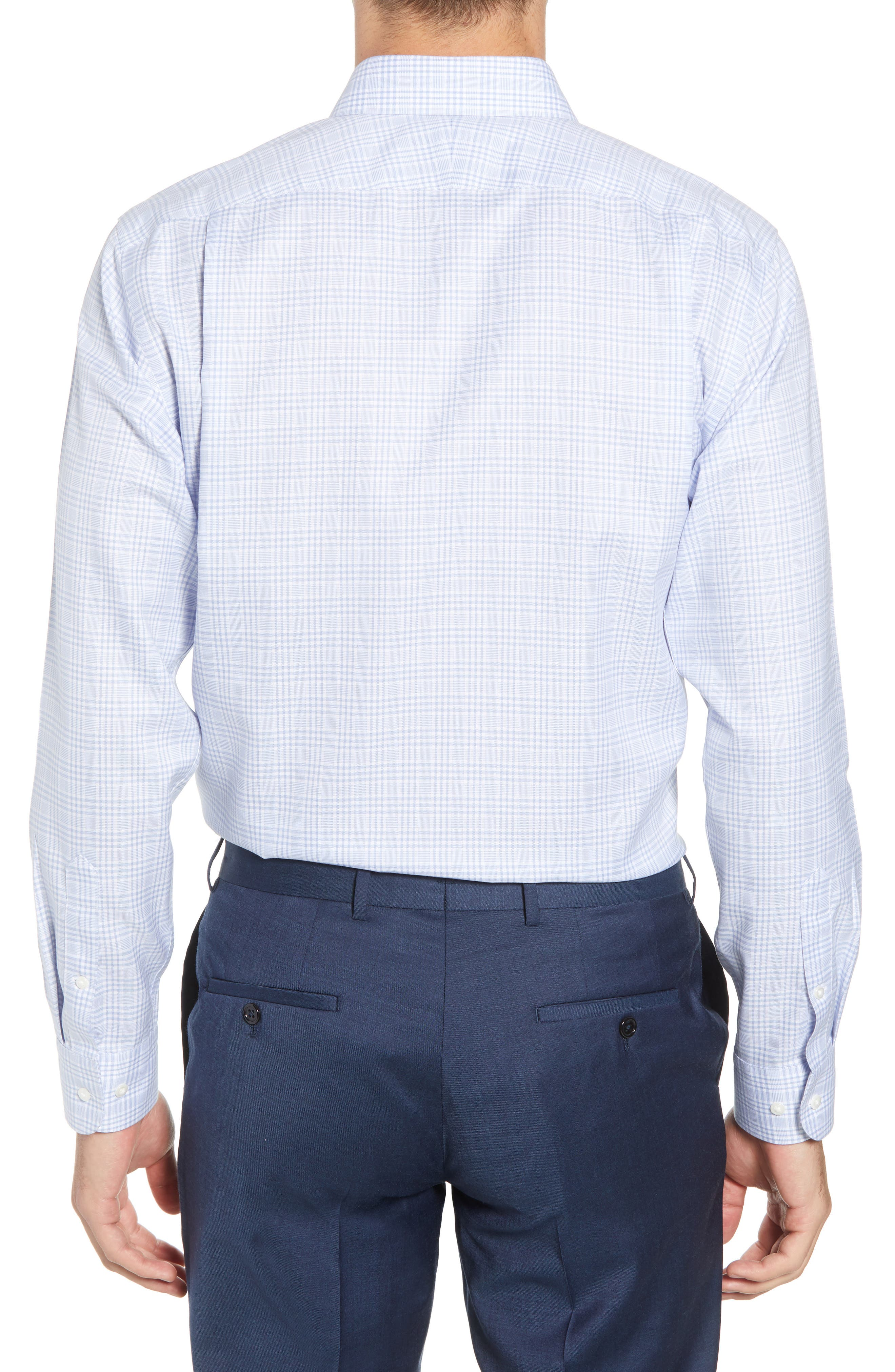 Smartcare<sup>™</sup> Traditional Fit Plaid Dress Shirt,                             Alternate thumbnail 6, color,