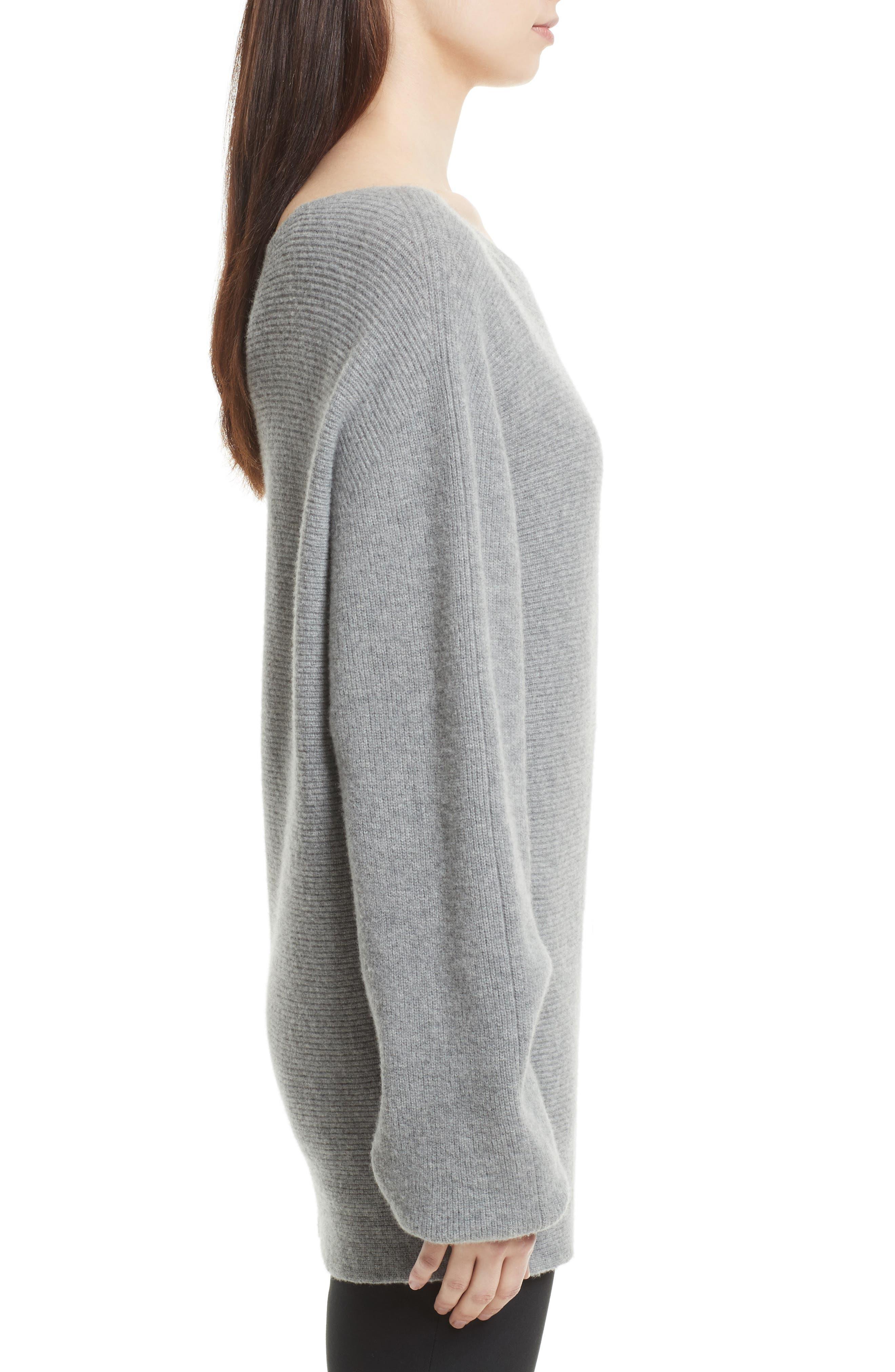 One-Shoulder Merino Wool Sweater,                             Alternate thumbnail 3, color,                             079