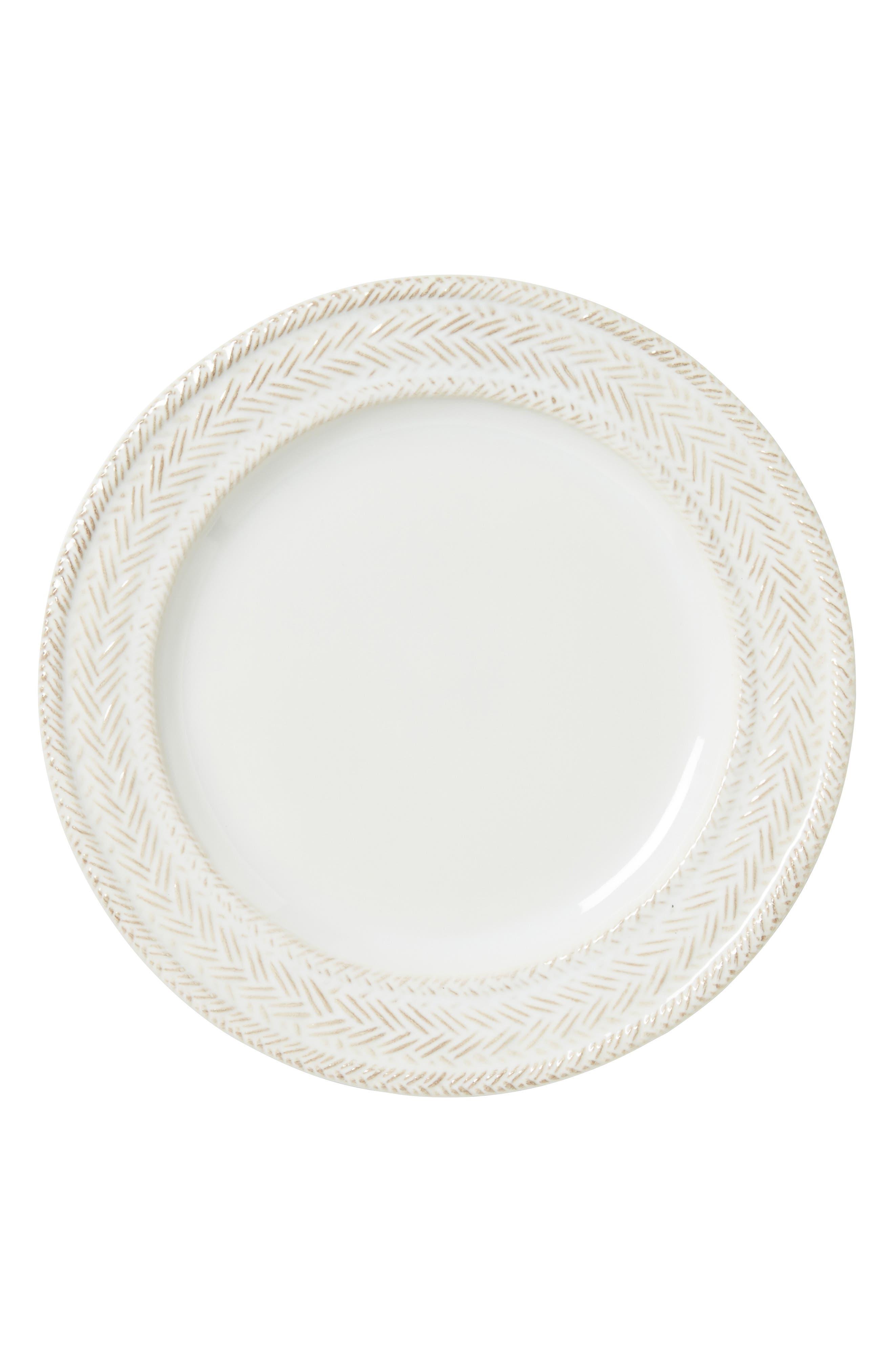 Le Panier Ceramic Salad Plate,                             Main thumbnail 1, color,                             WHITEWASH