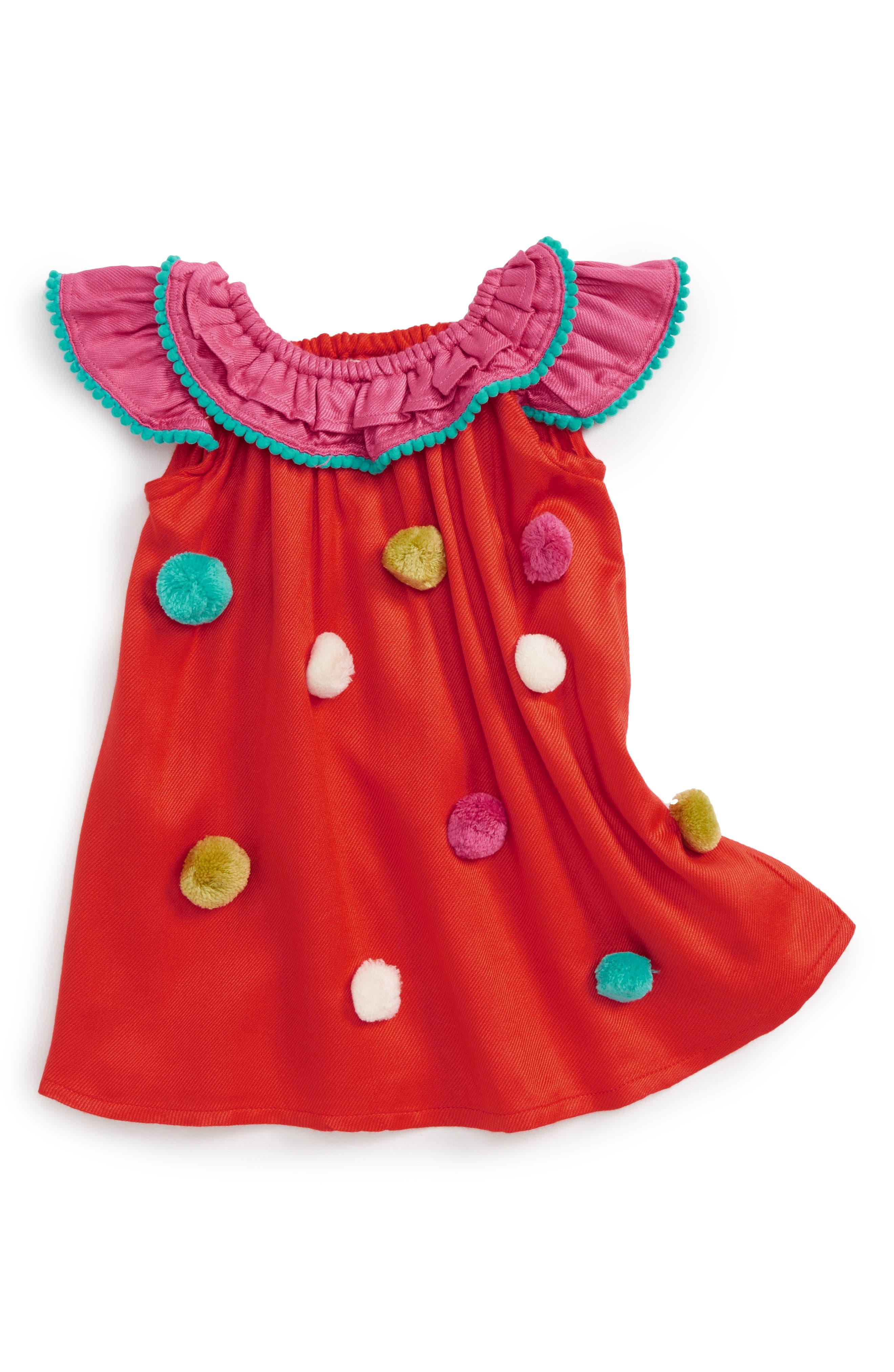 Pompom Dress,                         Main,                         color, 950