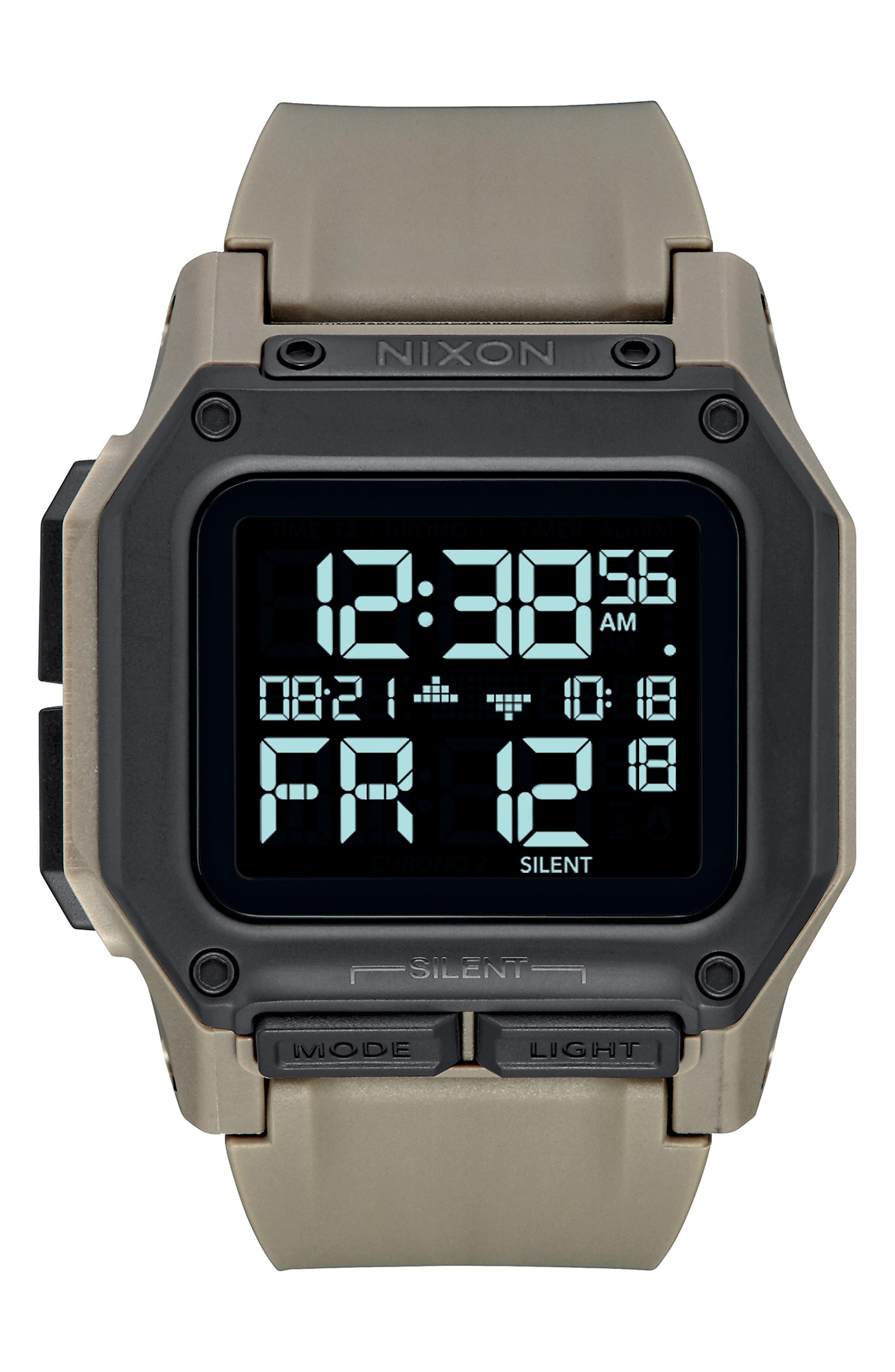 NIXON Regulus Beige Watch, 44Mm X 46Mm in Sand/ Black/ Sand