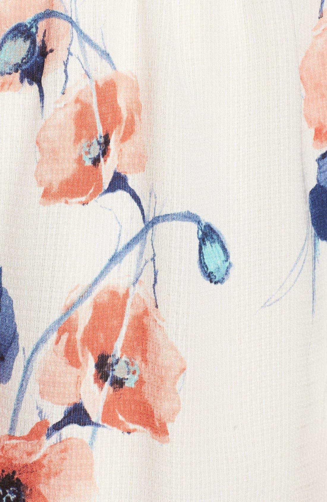 Floral Romper,                             Alternate thumbnail 6, color,                             901