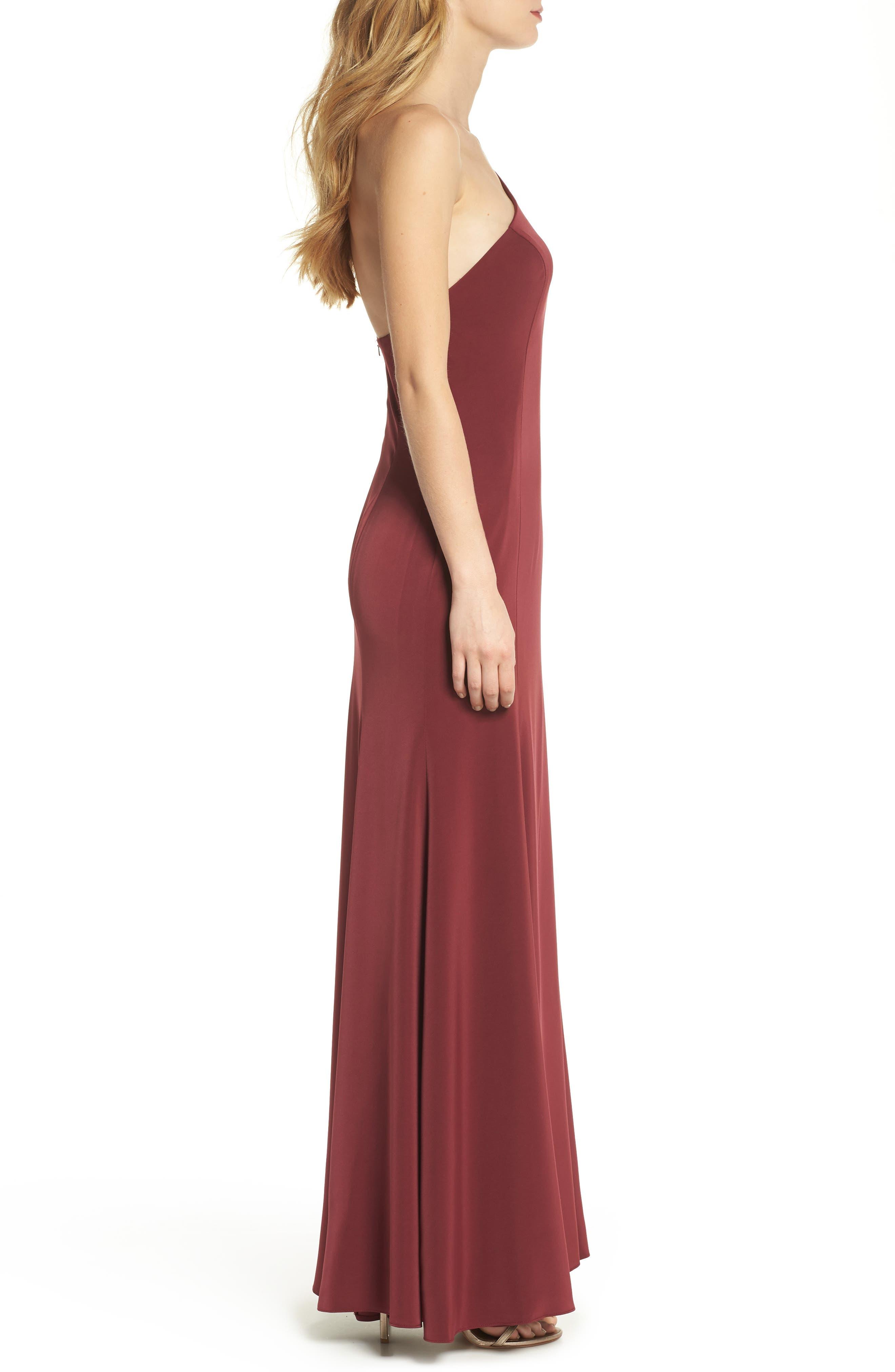 Jelina One-Shoulder Gown,                             Alternate thumbnail 3, color,                             600