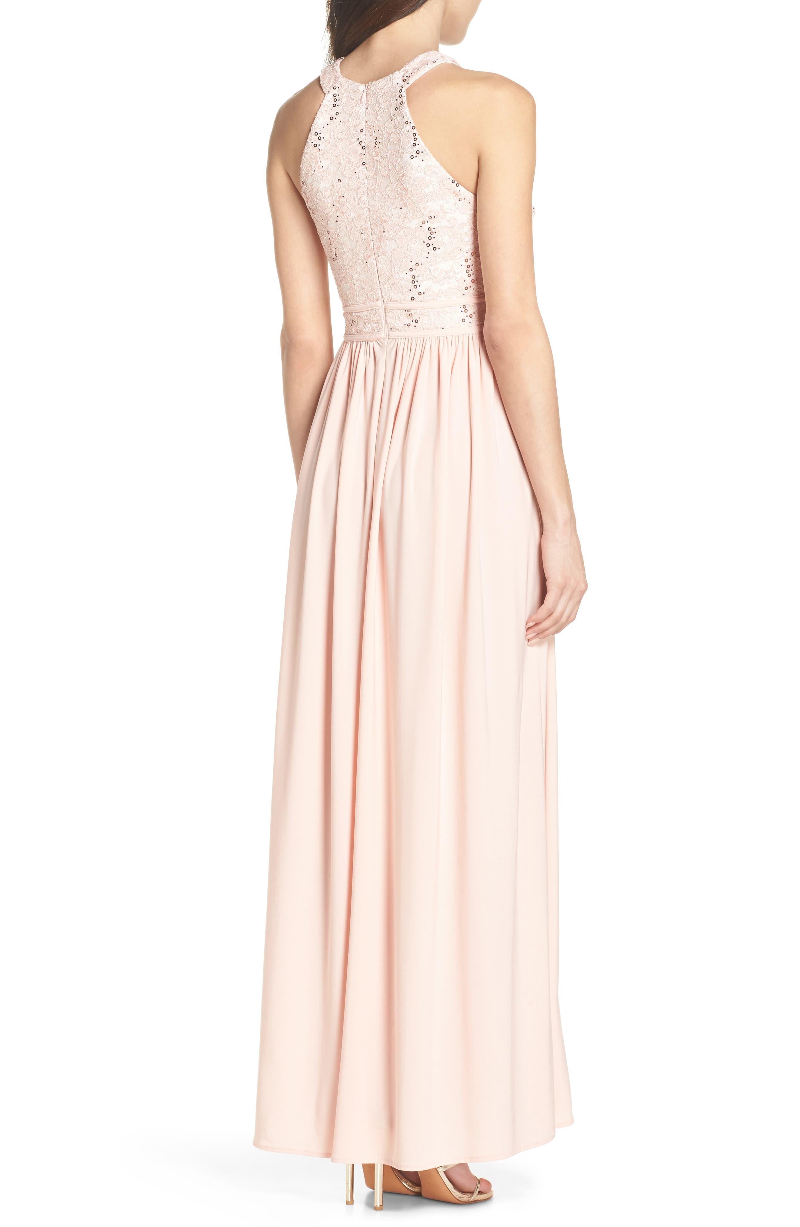 Lace Bodice Keyhole Gown,                             Alternate thumbnail 2, color,                             652