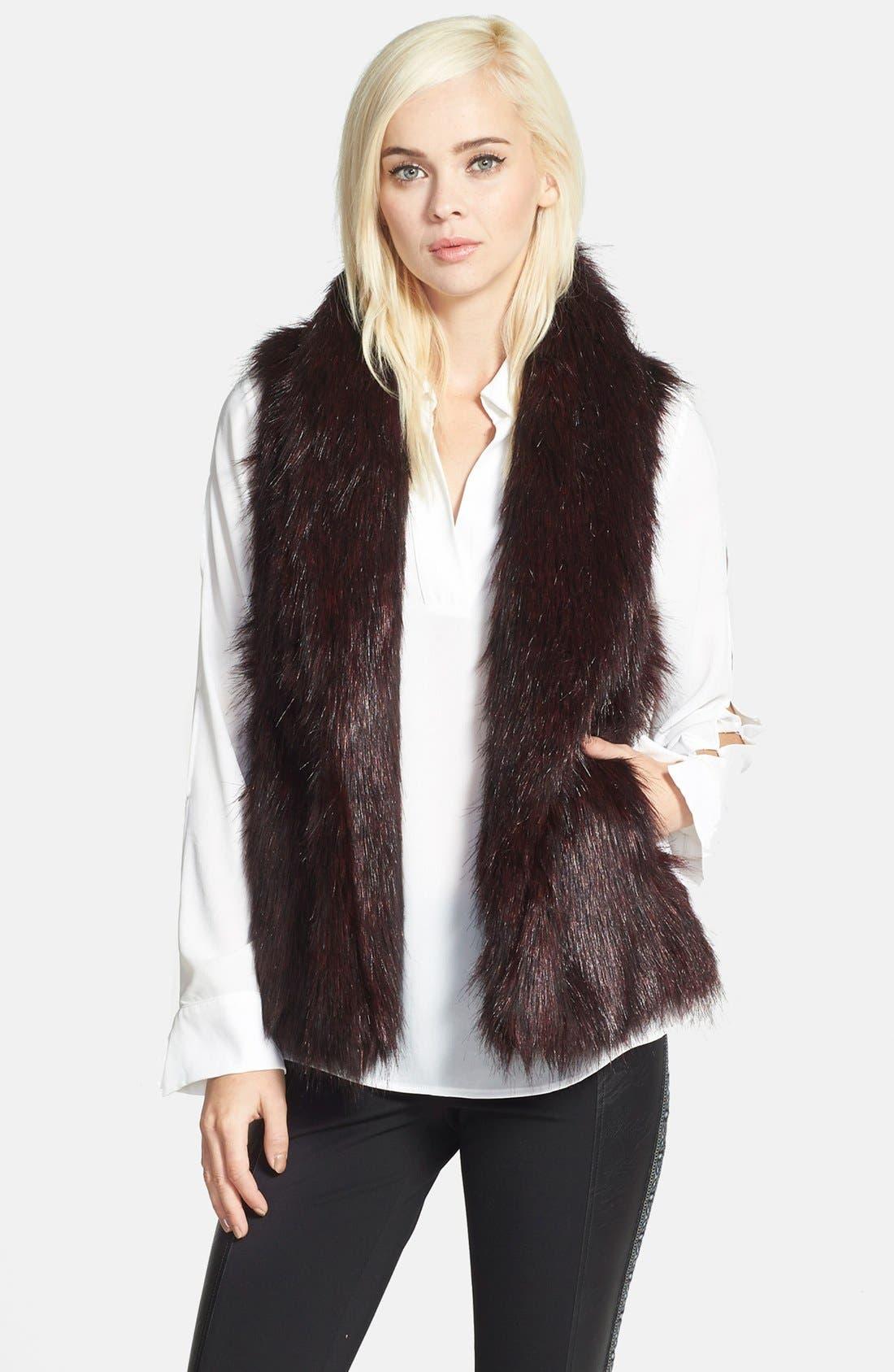 Faux Fur Vest,                             Main thumbnail 1, color,                             930
