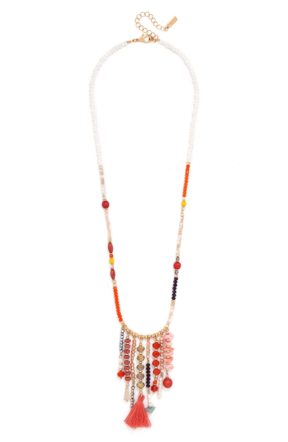 'Congo' Beaded Tassel Necklace,                             Alternate thumbnail 6, color,