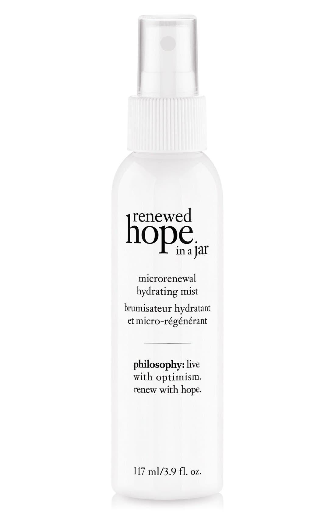 renewed hope in a jar microrenewal hydrating mist,                             Main thumbnail 1, color,