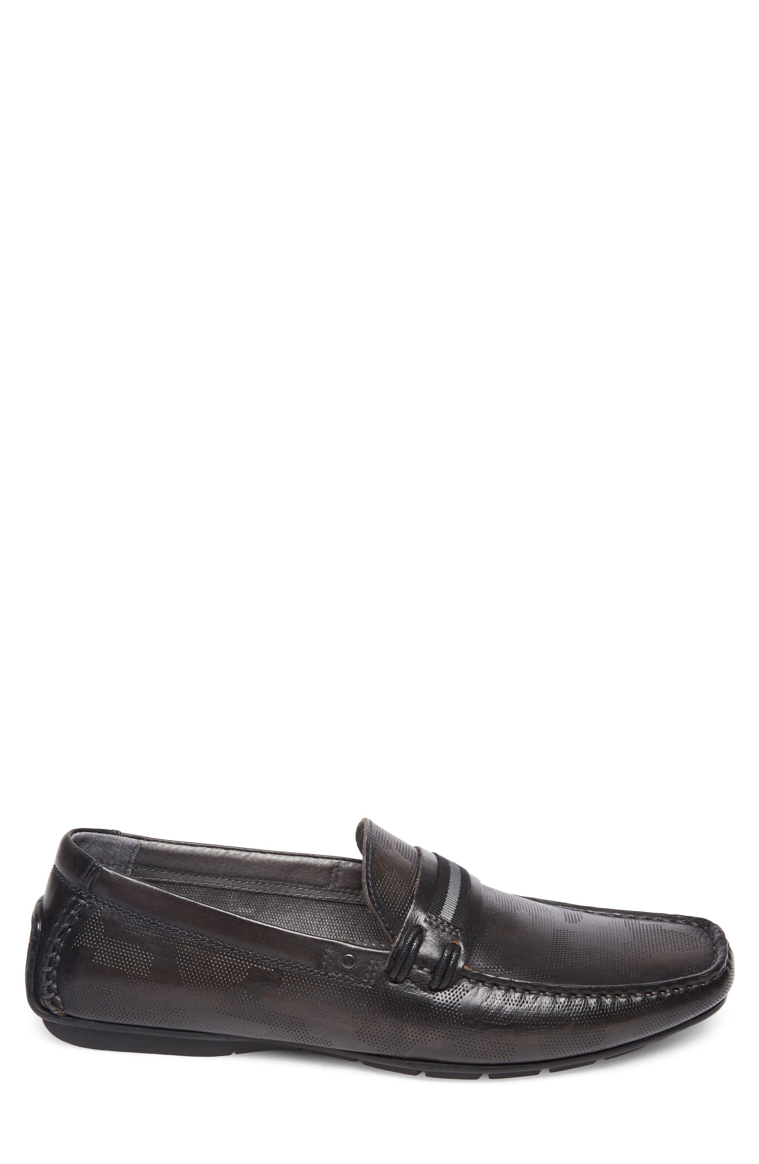 Garvet Textured Driving Loafer,                             Alternate thumbnail 3, color,                             001