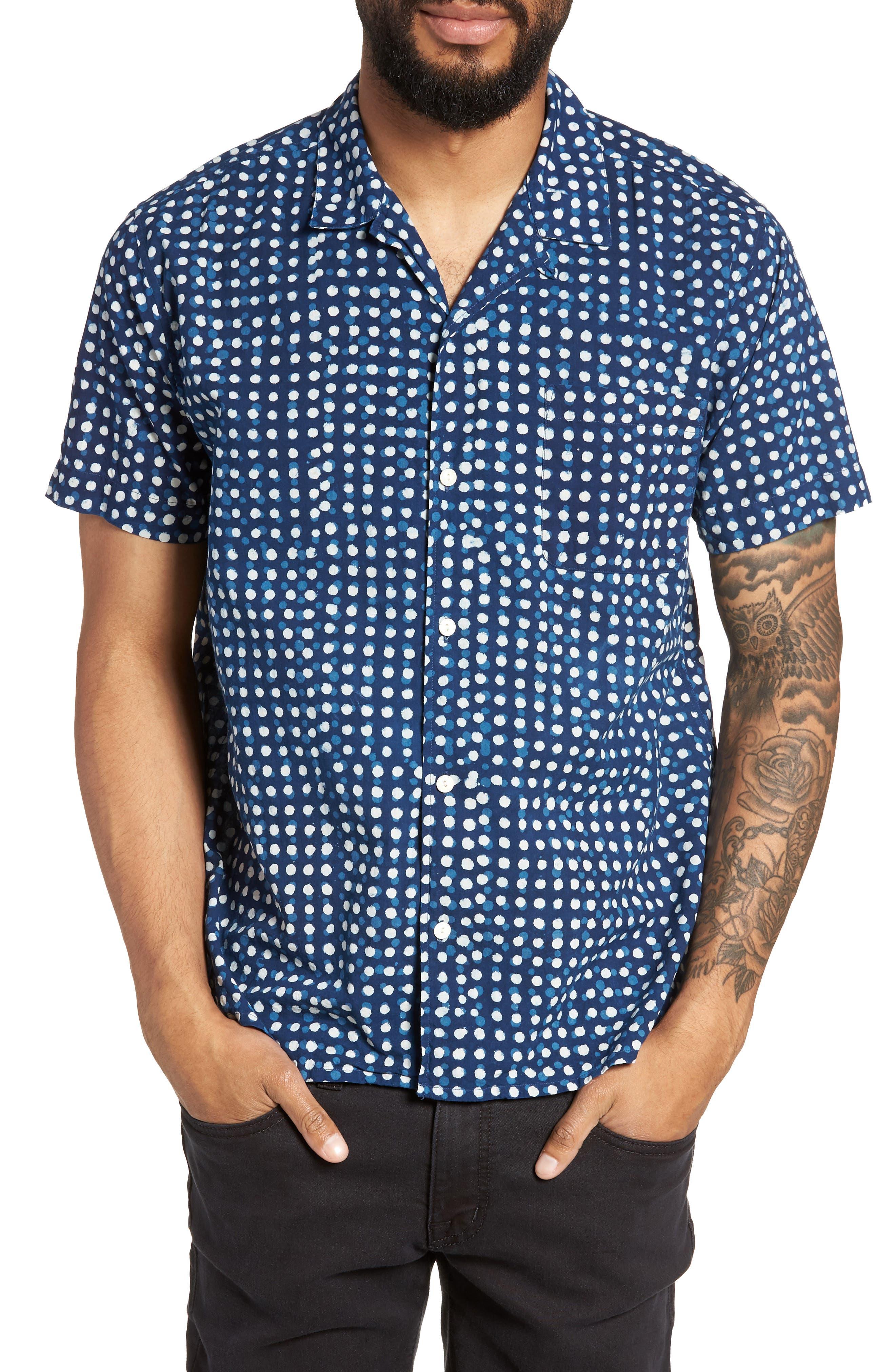 Malick Slim Fit Dot Sport Shirt,                             Main thumbnail 1, color,                             406