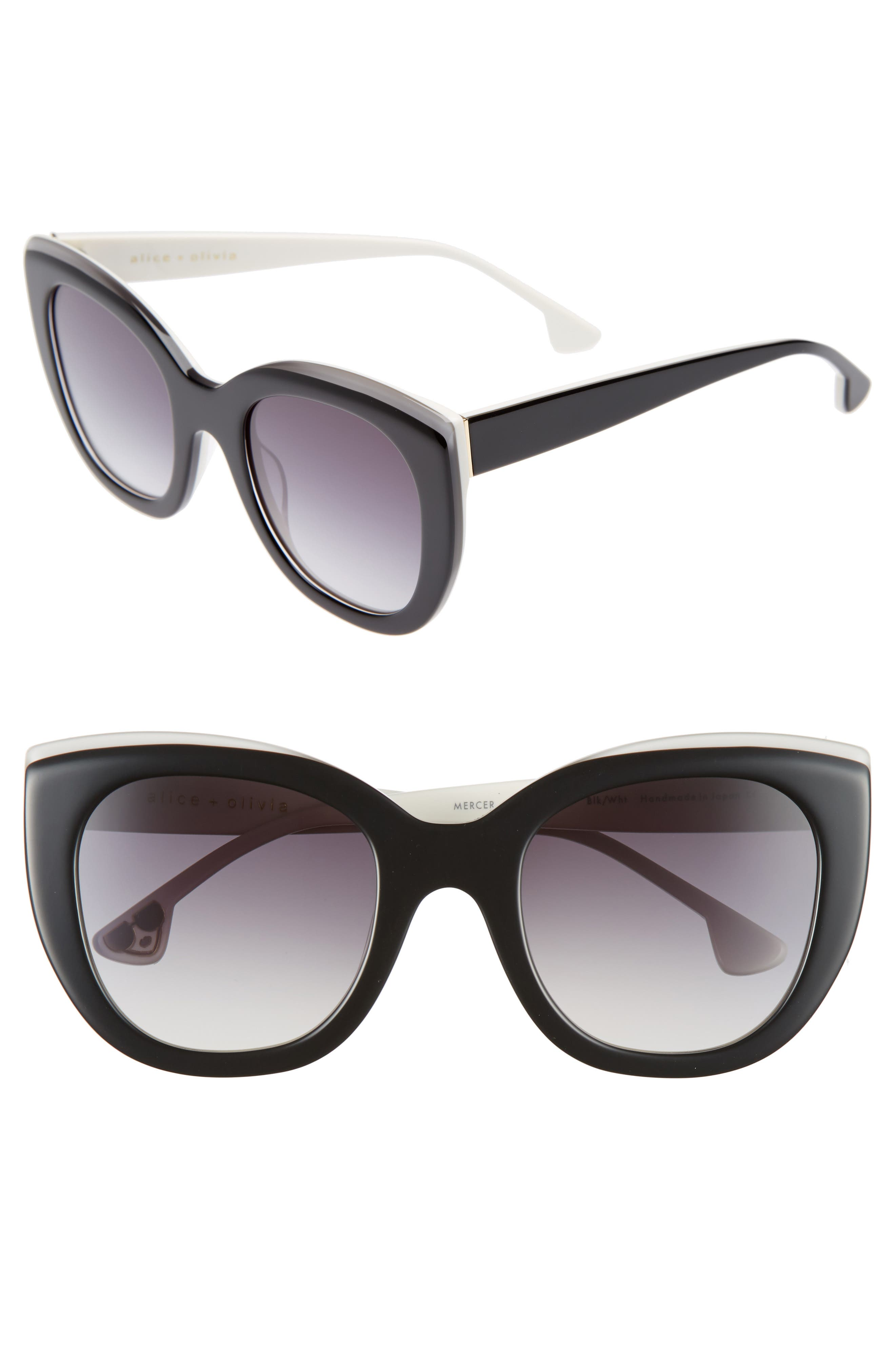 Mercer 52mm Cat Eye Sunglasses,                             Main thumbnail 1, color,