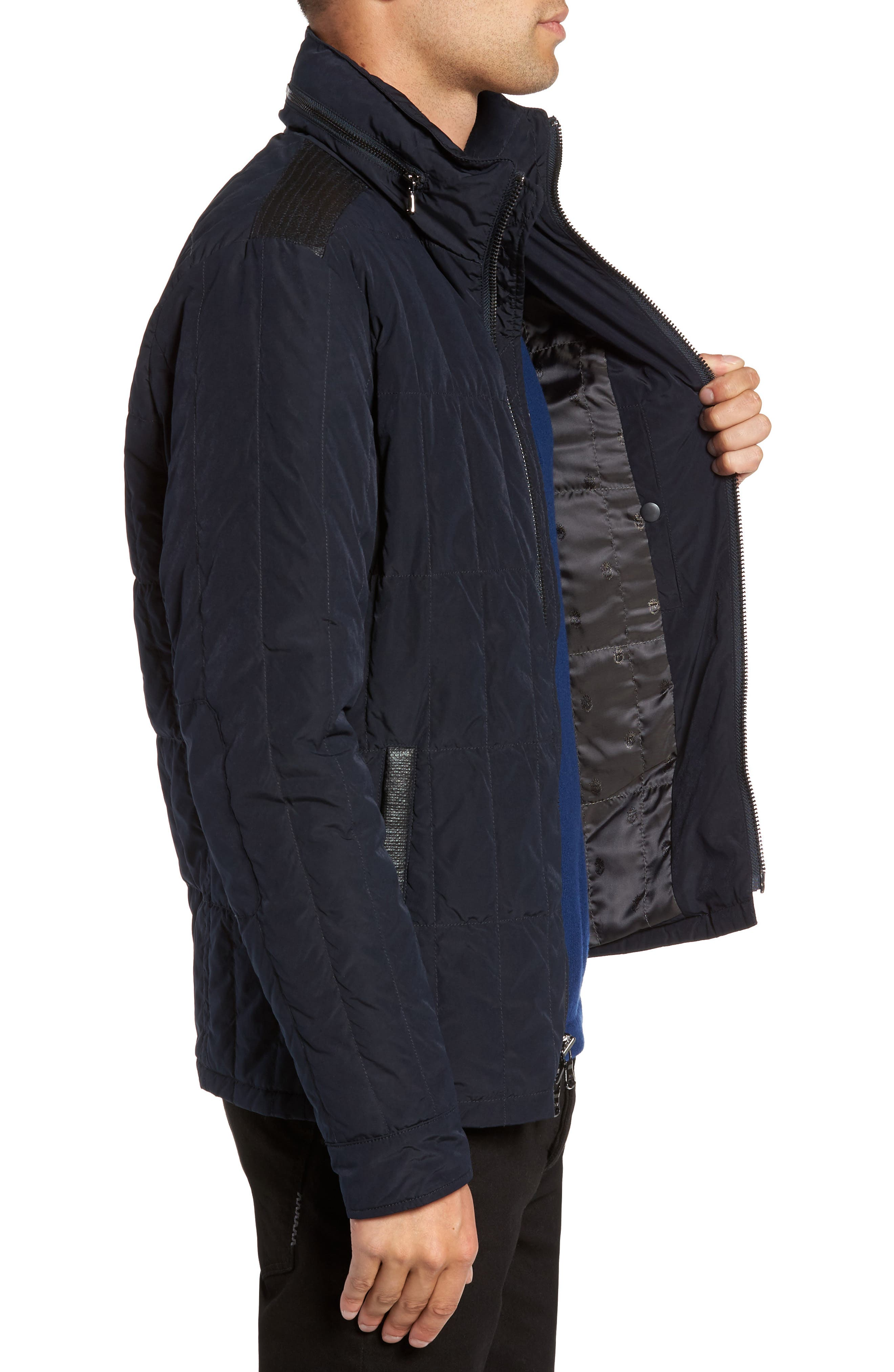 Quilted Down Jacket,                             Alternate thumbnail 6, color,