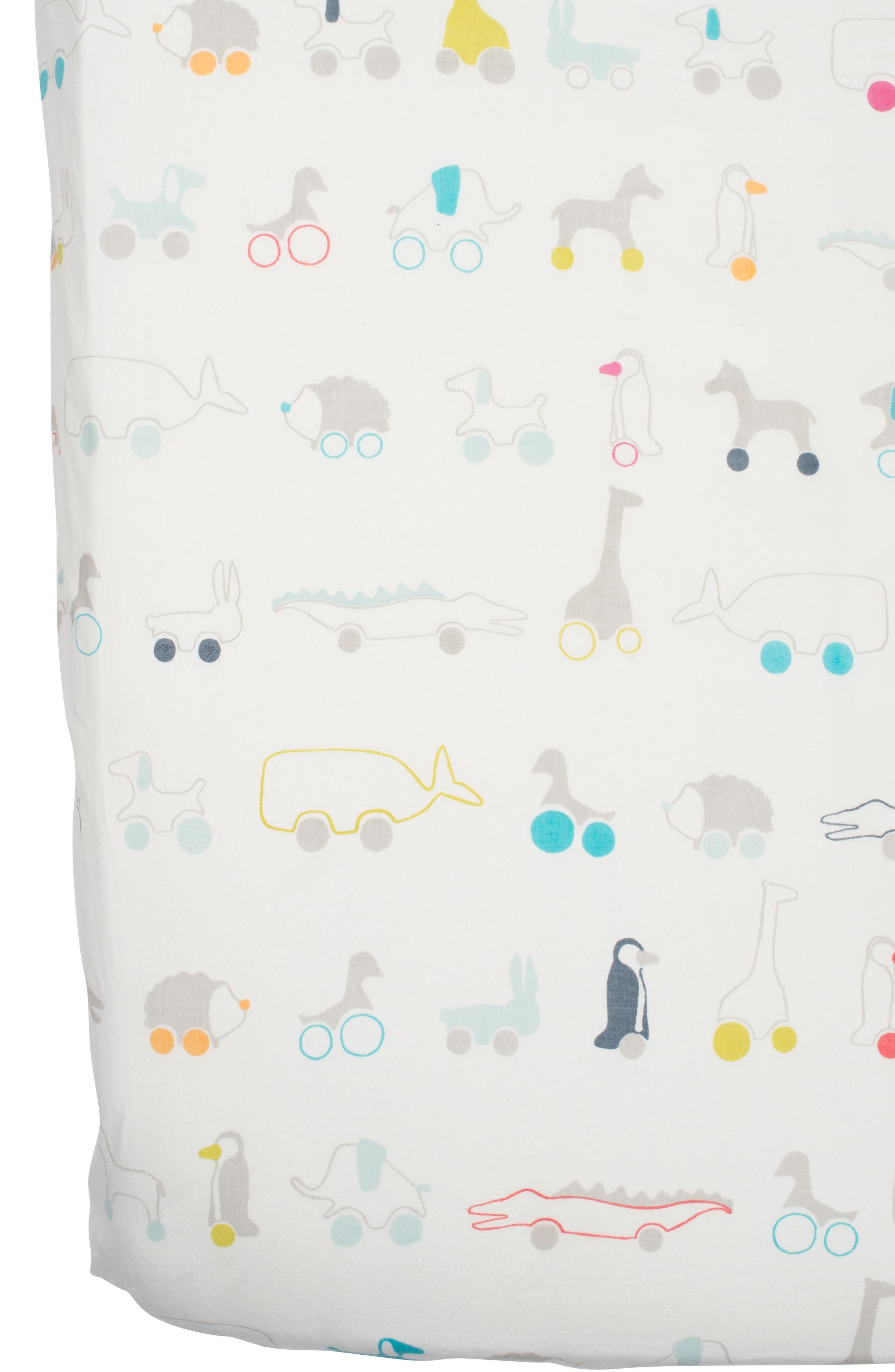 Pull Toys Crib Sheet,                         Main,                         color, MULTI