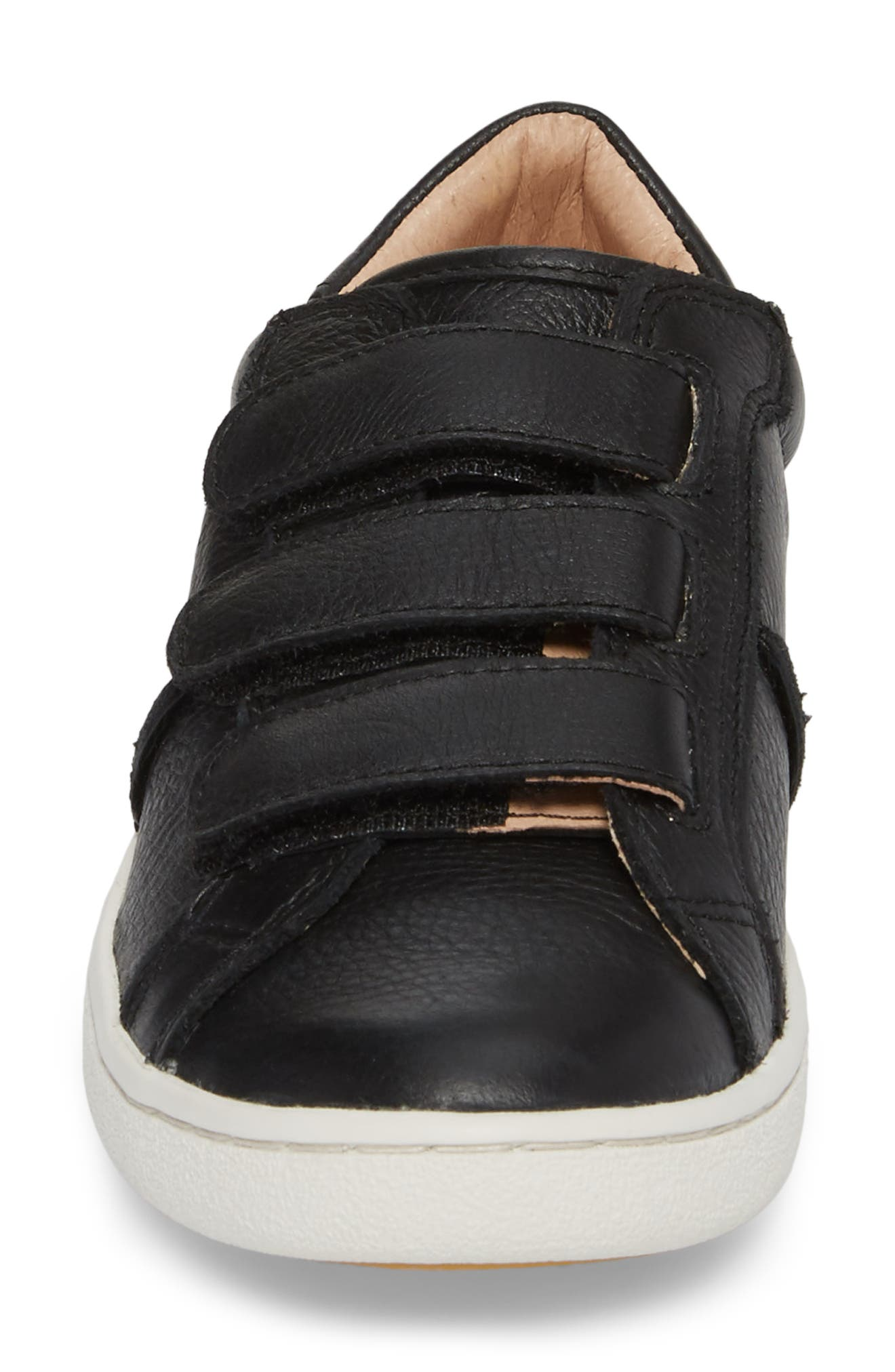 Alix Sneaker,                             Alternate thumbnail 4, color,                             BLACK LEATHER