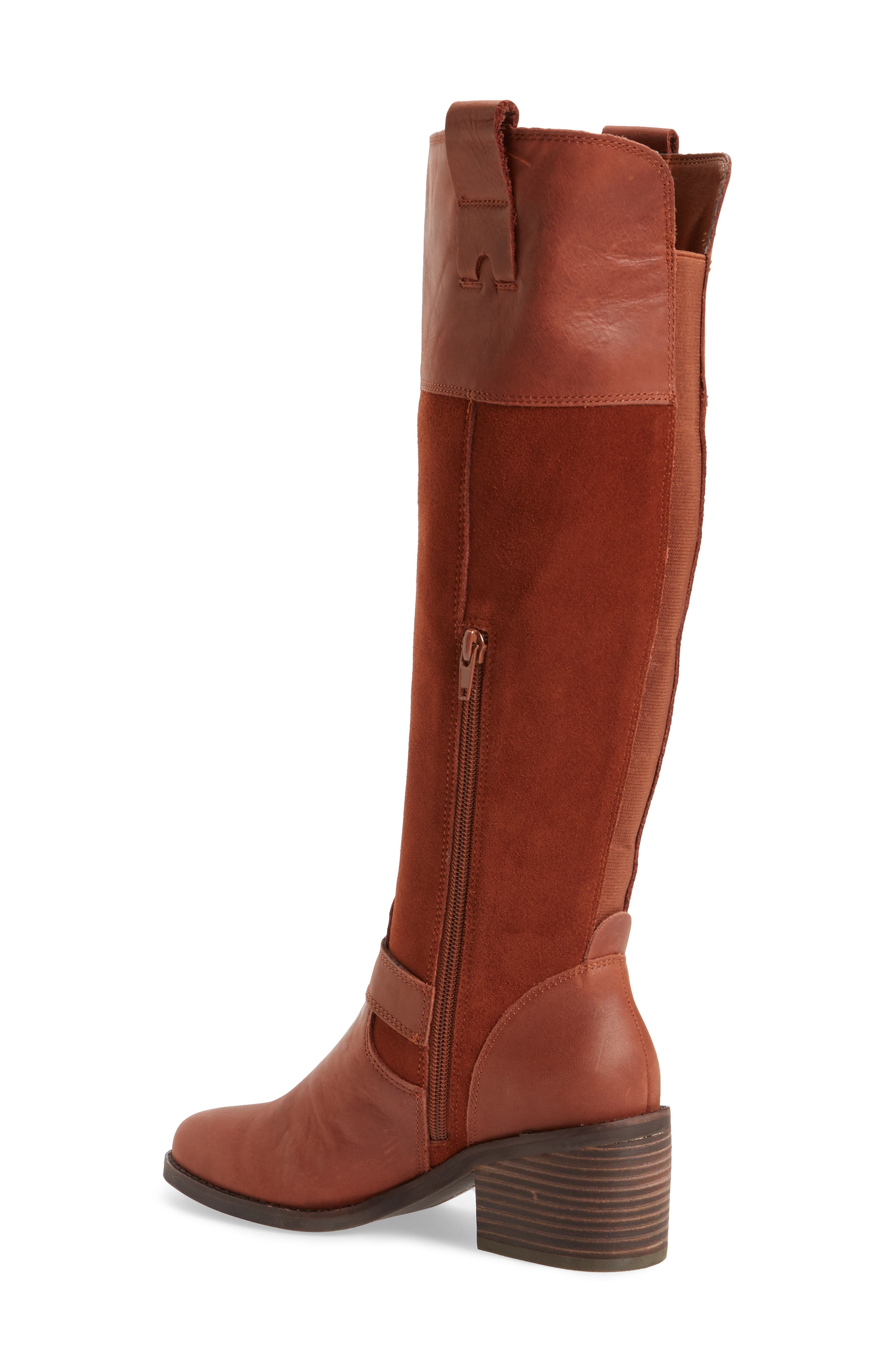 Kailan Ankle Strap Tall Boot,                             Alternate thumbnail 6, color,