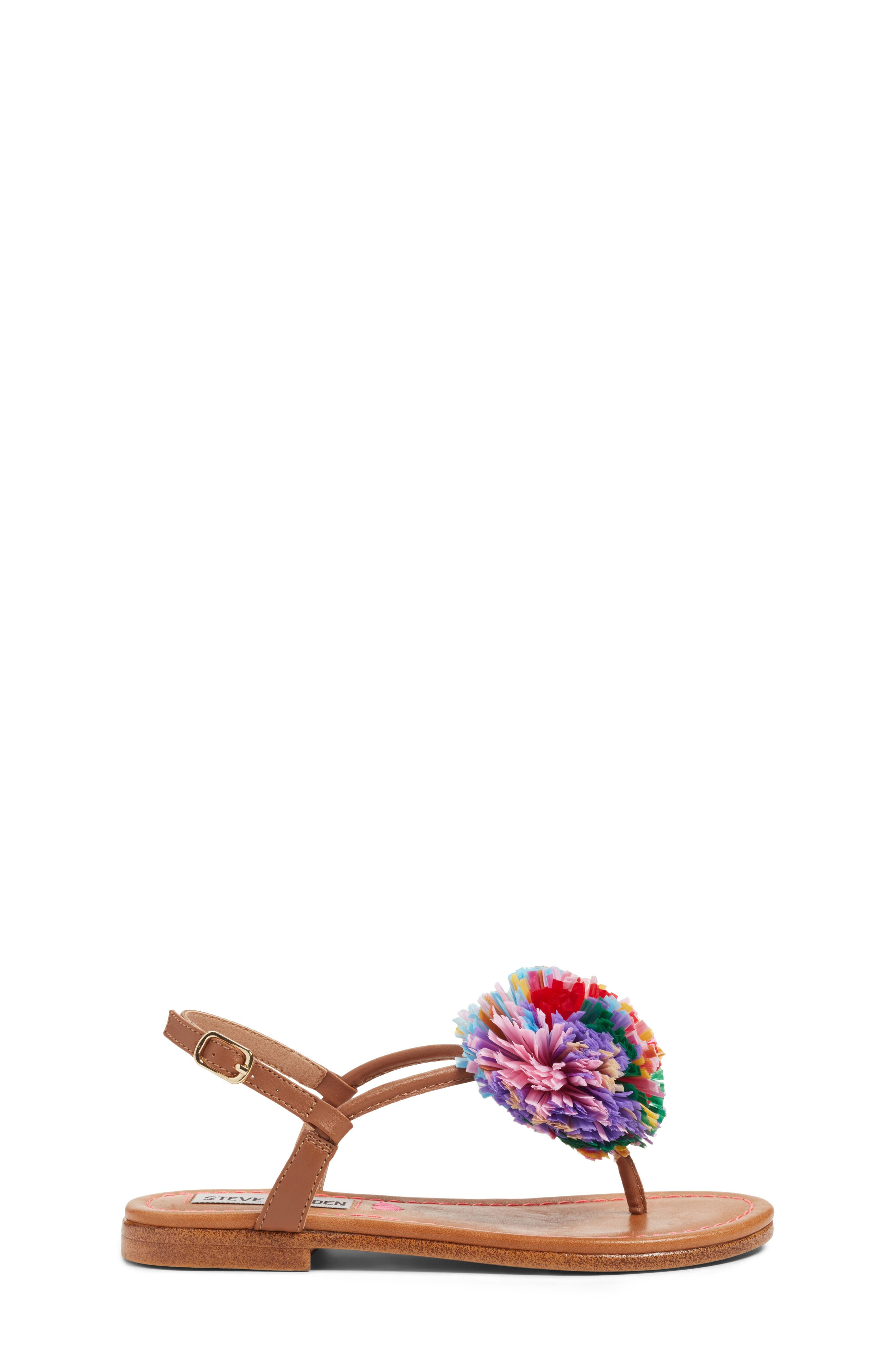 JCherry Pompom Sandal,                             Alternate thumbnail 3, color,