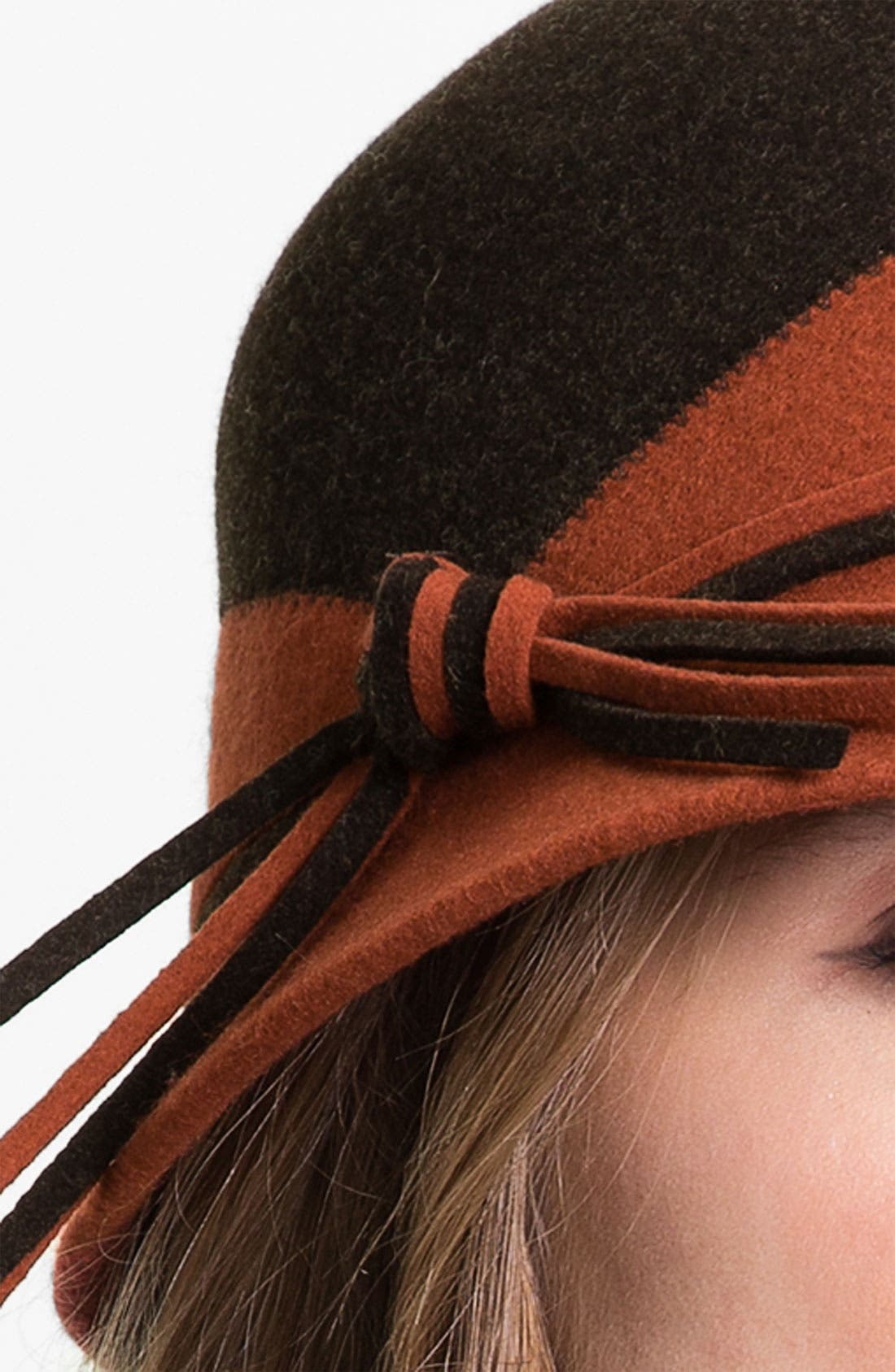 Two Tone Wool Cloche,                             Alternate thumbnail 5, color,