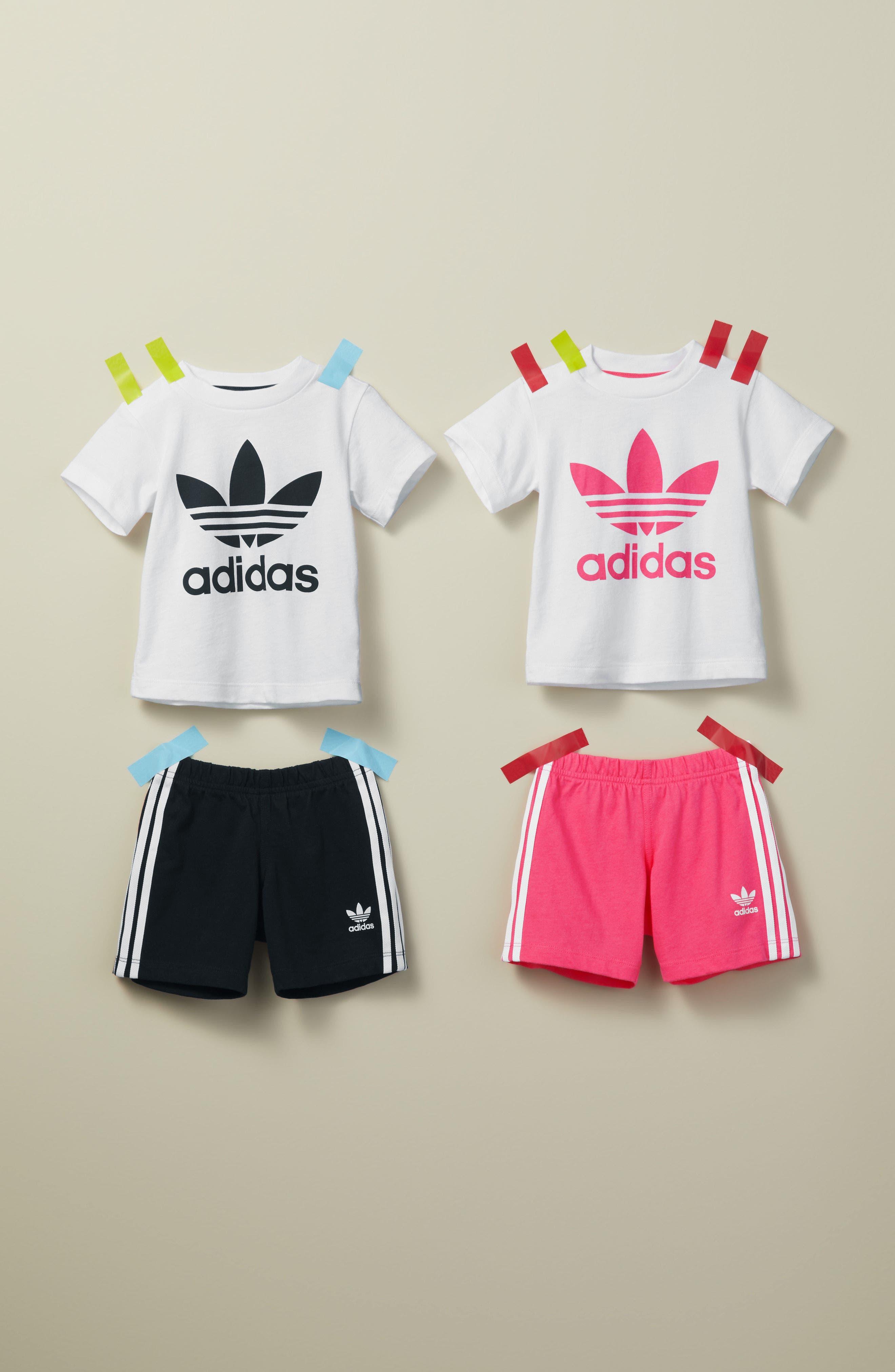Originals Graphic T-Shirt & Shorts Set,                             Alternate thumbnail 3, color,                             WHITE/ BLACK