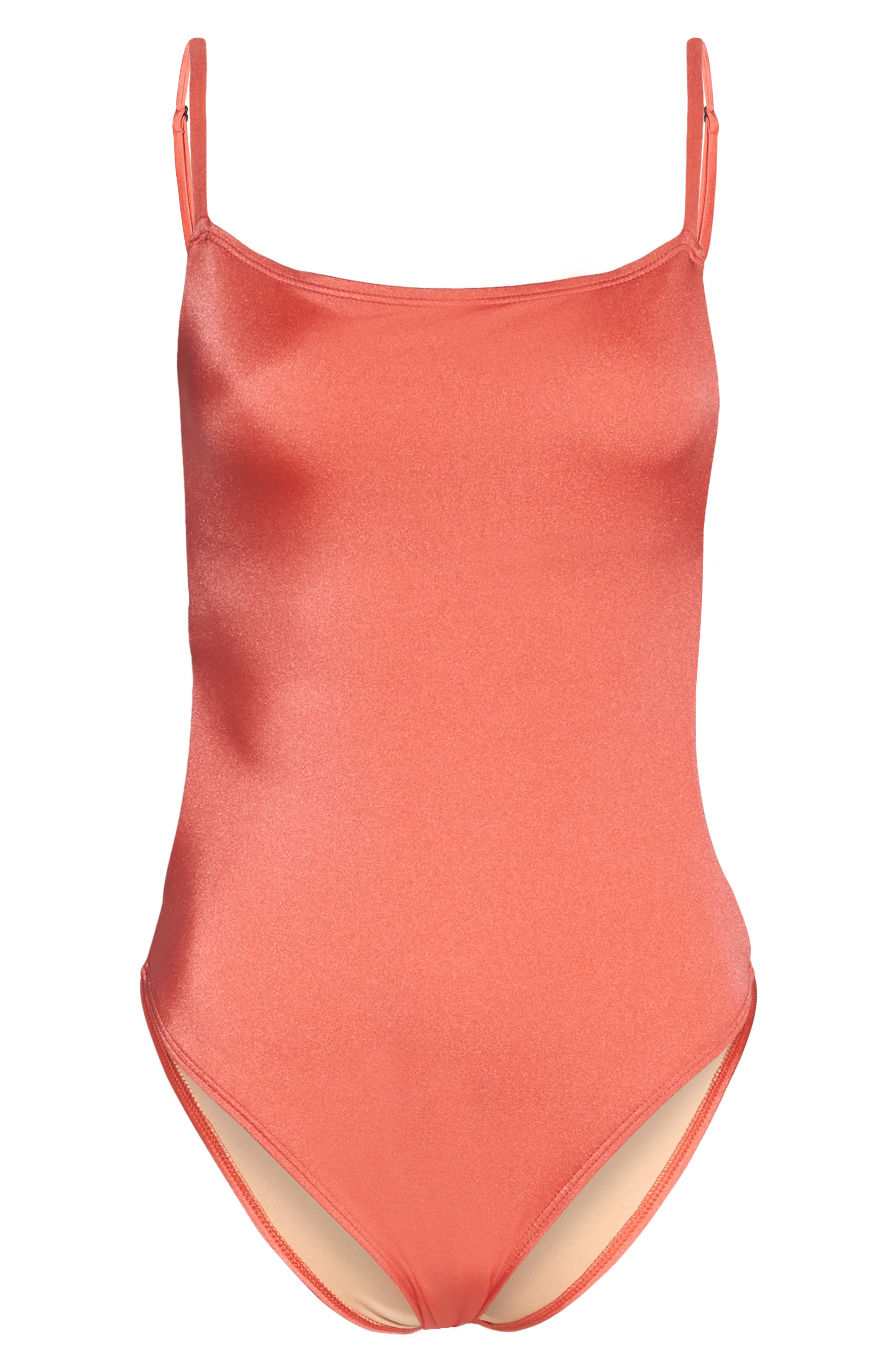 Retro One-Piece Swimsuit,                             Alternate thumbnail 6, color,                             958