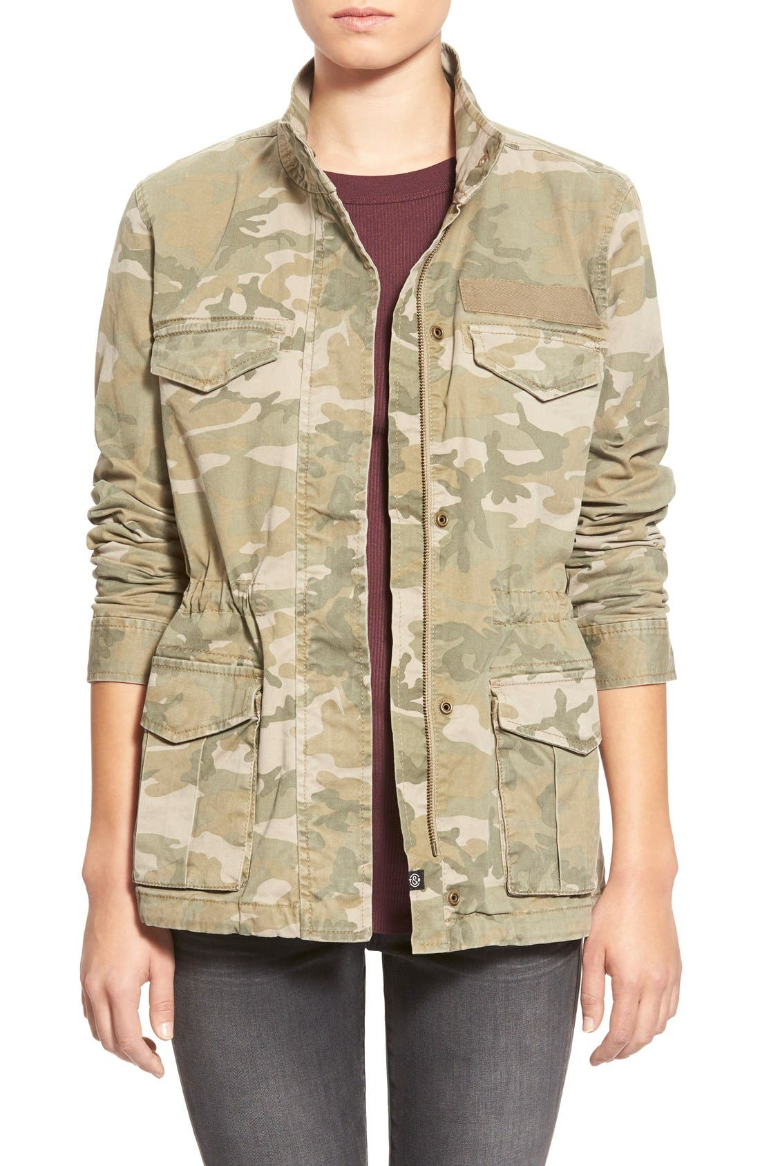 Treasure&Bond Camo Print Field Jacket, Main, color, 300