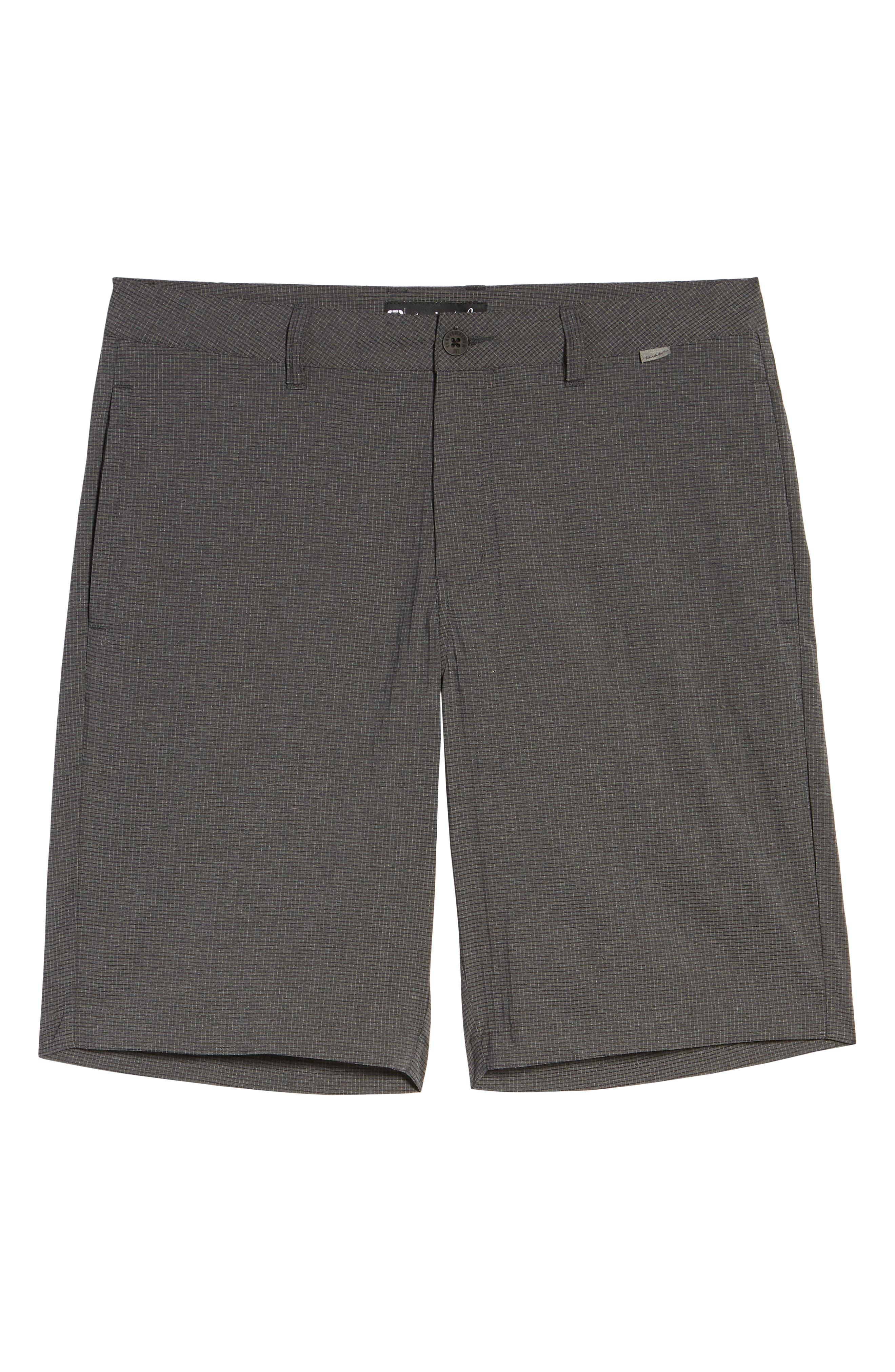 Peel Out Shorts,                             Alternate thumbnail 6, color,                             GREY PINSTRIPE