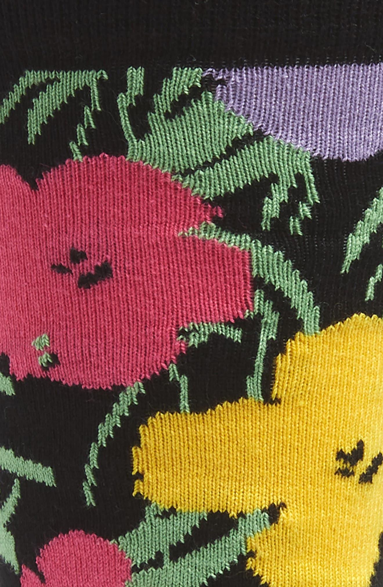 Andy Warhol Flower Socks,                             Alternate thumbnail 2, color,                             PINK