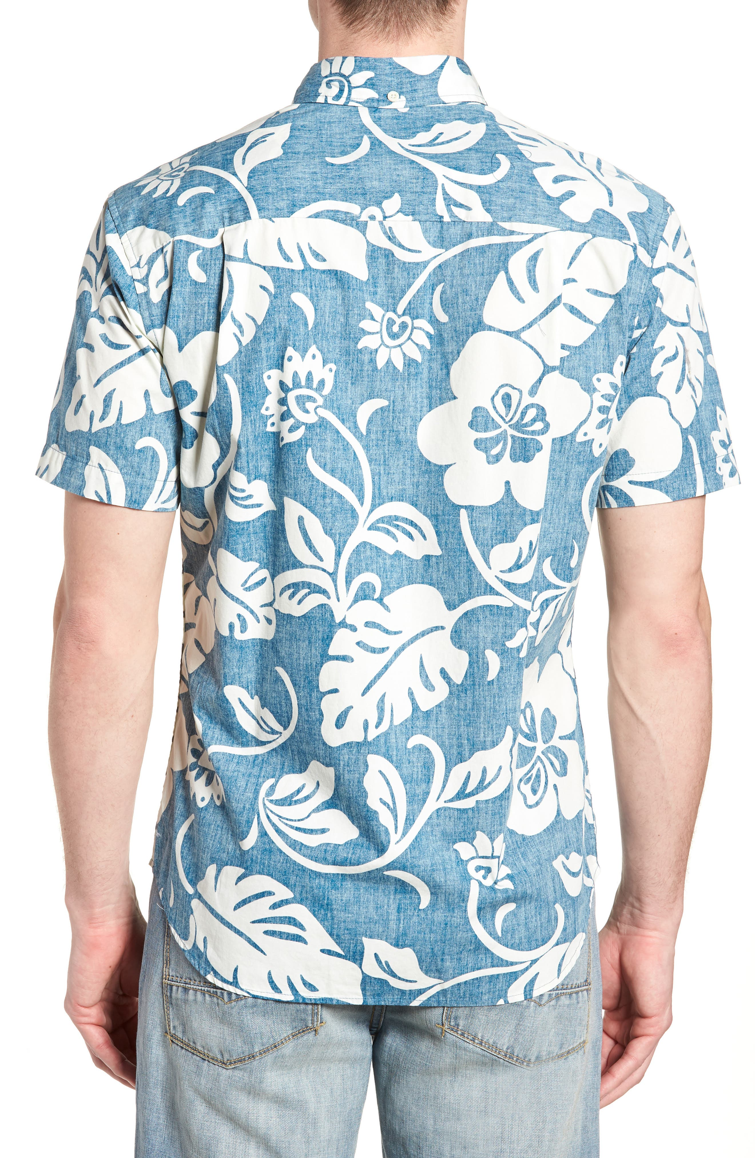 Papeetee Pareau Tailored Fit Sport Shirt,                             Alternate thumbnail 2, color,