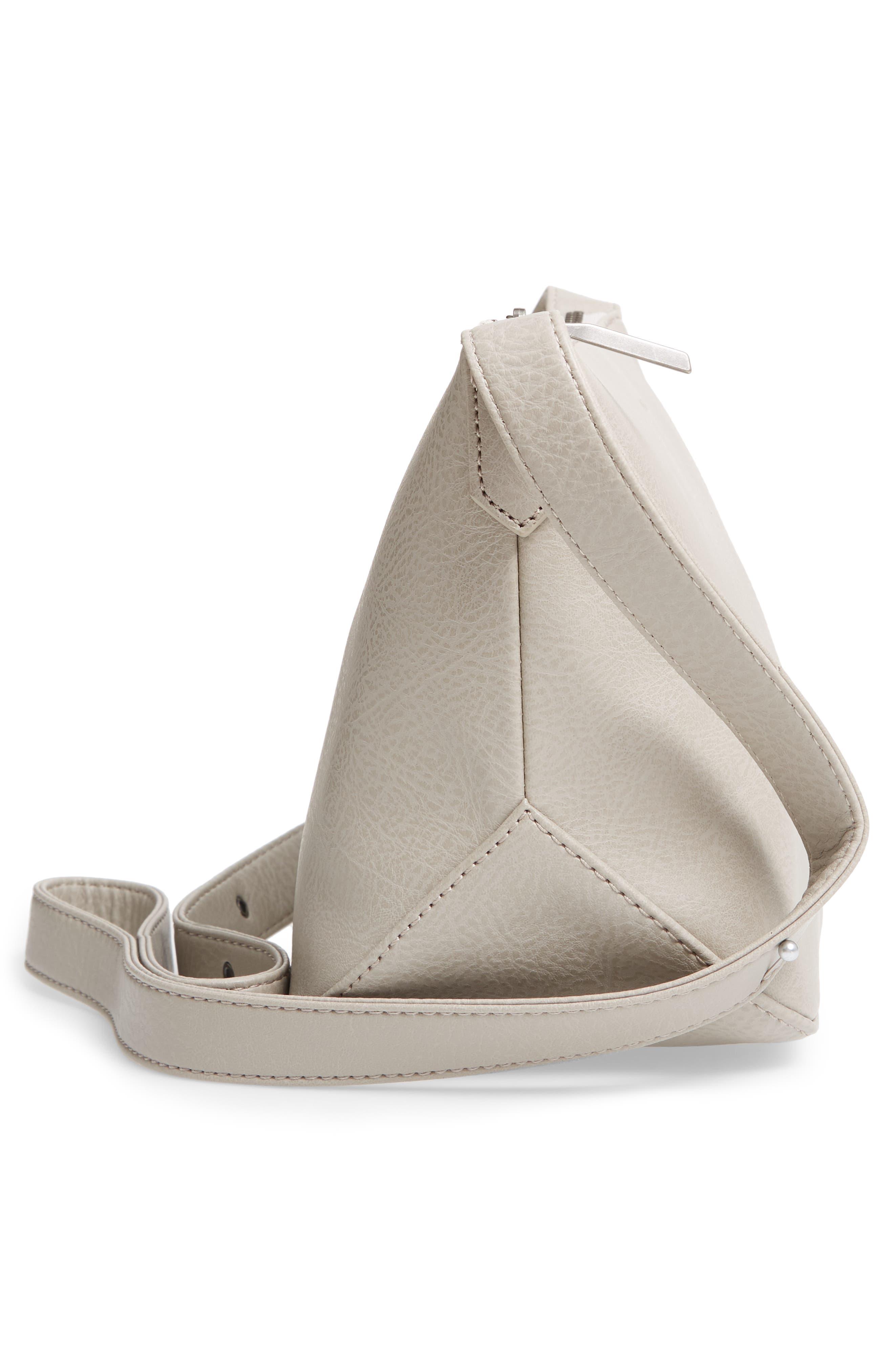 Large Sam Faux Leather Crossbody Bag,                             Alternate thumbnail 5, color,                             050