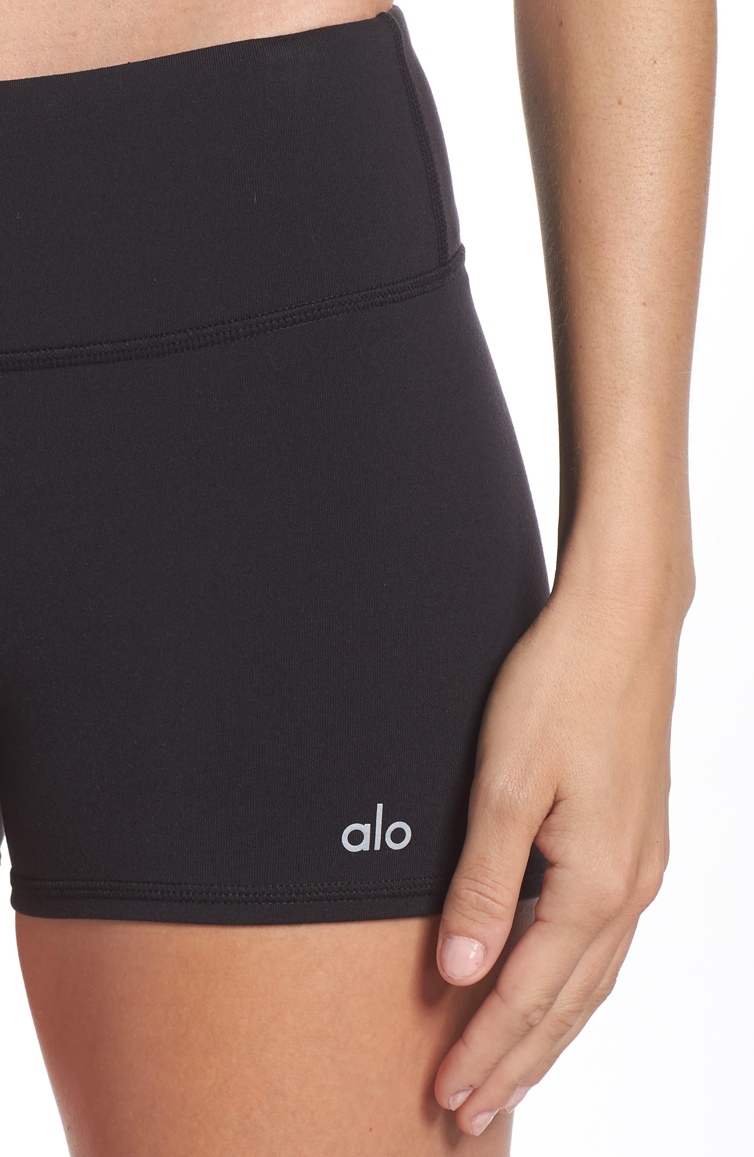 Airbrush Shorts,                             Alternate thumbnail 4, color,                             BLACK
