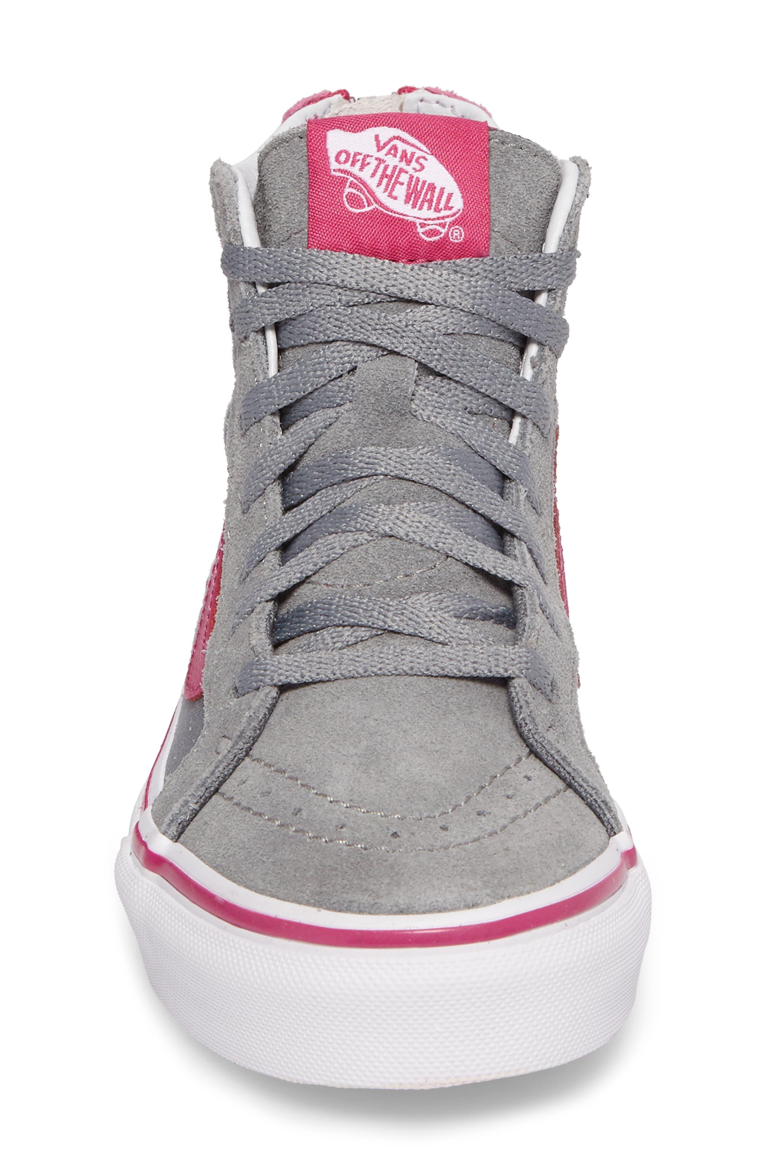 SK8-Hi Zip-Up Sneaker,                             Alternate thumbnail 4, color,                             650
