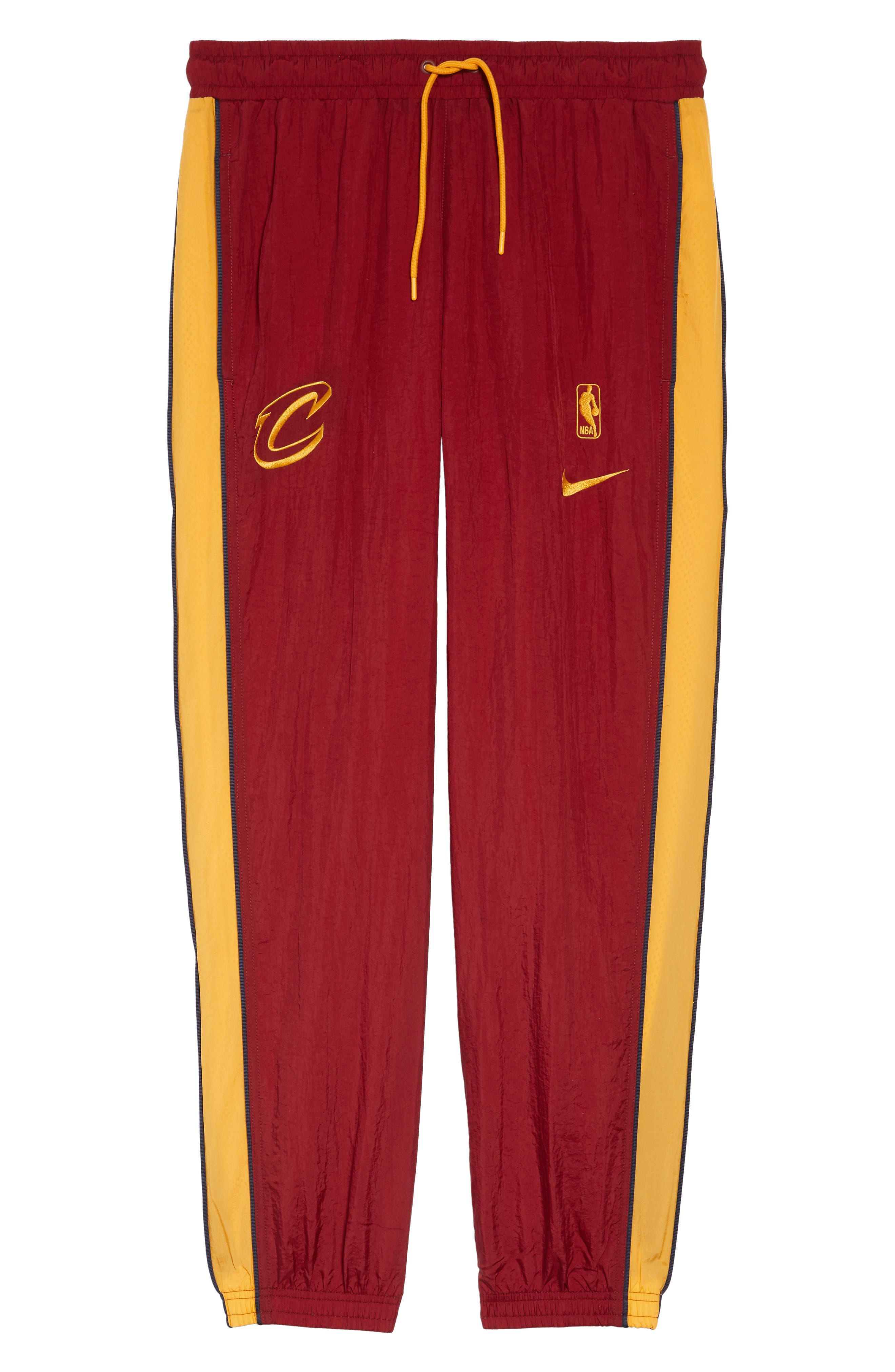 Cleveland Cavaliers Tracksuit Pants,                             Alternate thumbnail 6, color,                             TEAM RED/ UNIVERSITY GOLD