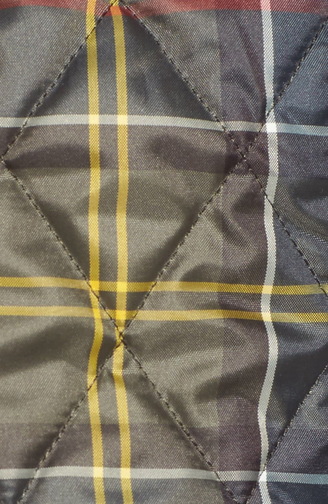 'Betty' Tartan Print Quilted Liner,                             Alternate thumbnail 5, color,                             362
