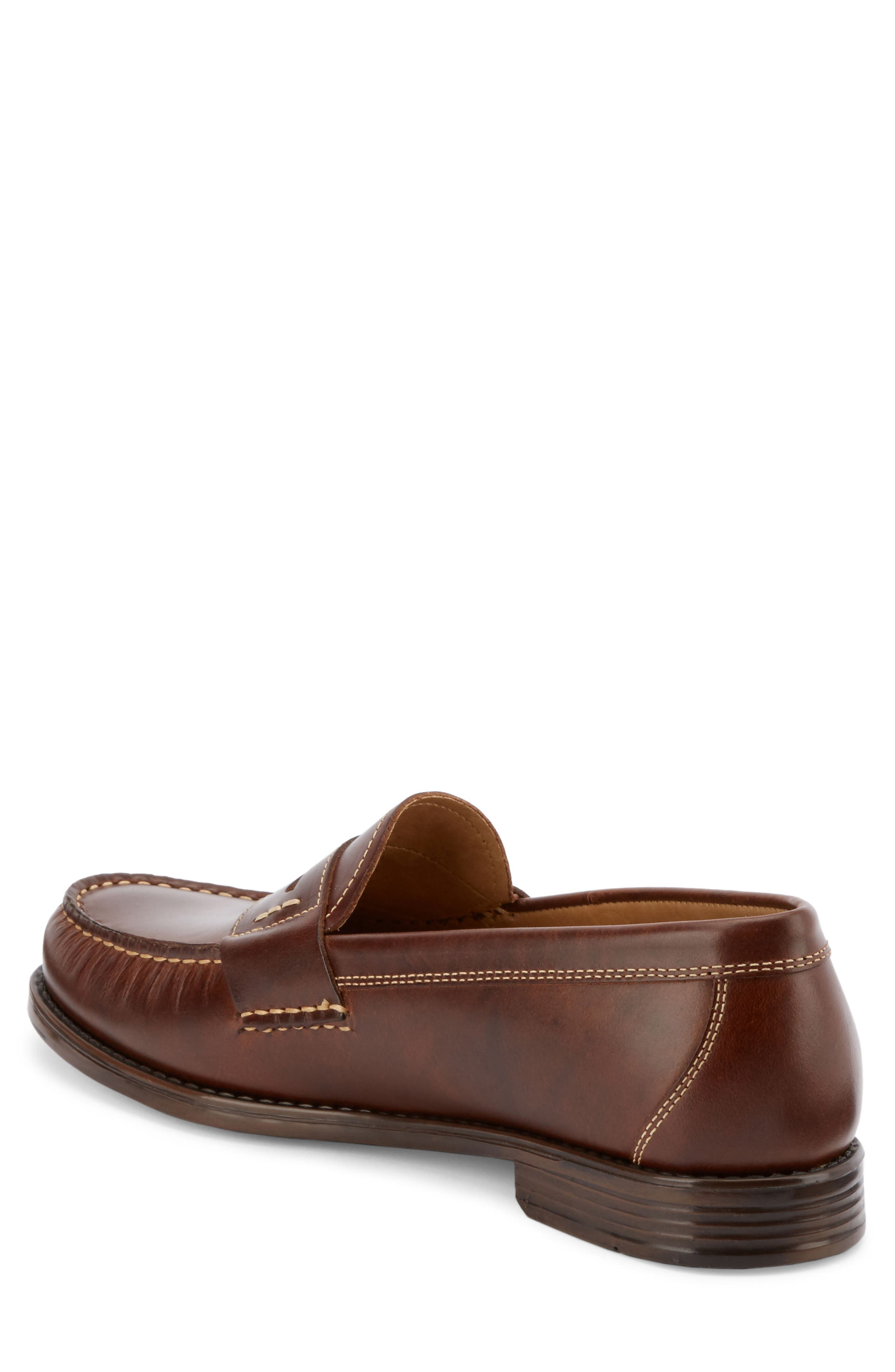 Wagner Penny Loafer,                             Alternate thumbnail 2, color,                             DARK BROWN LEATHER