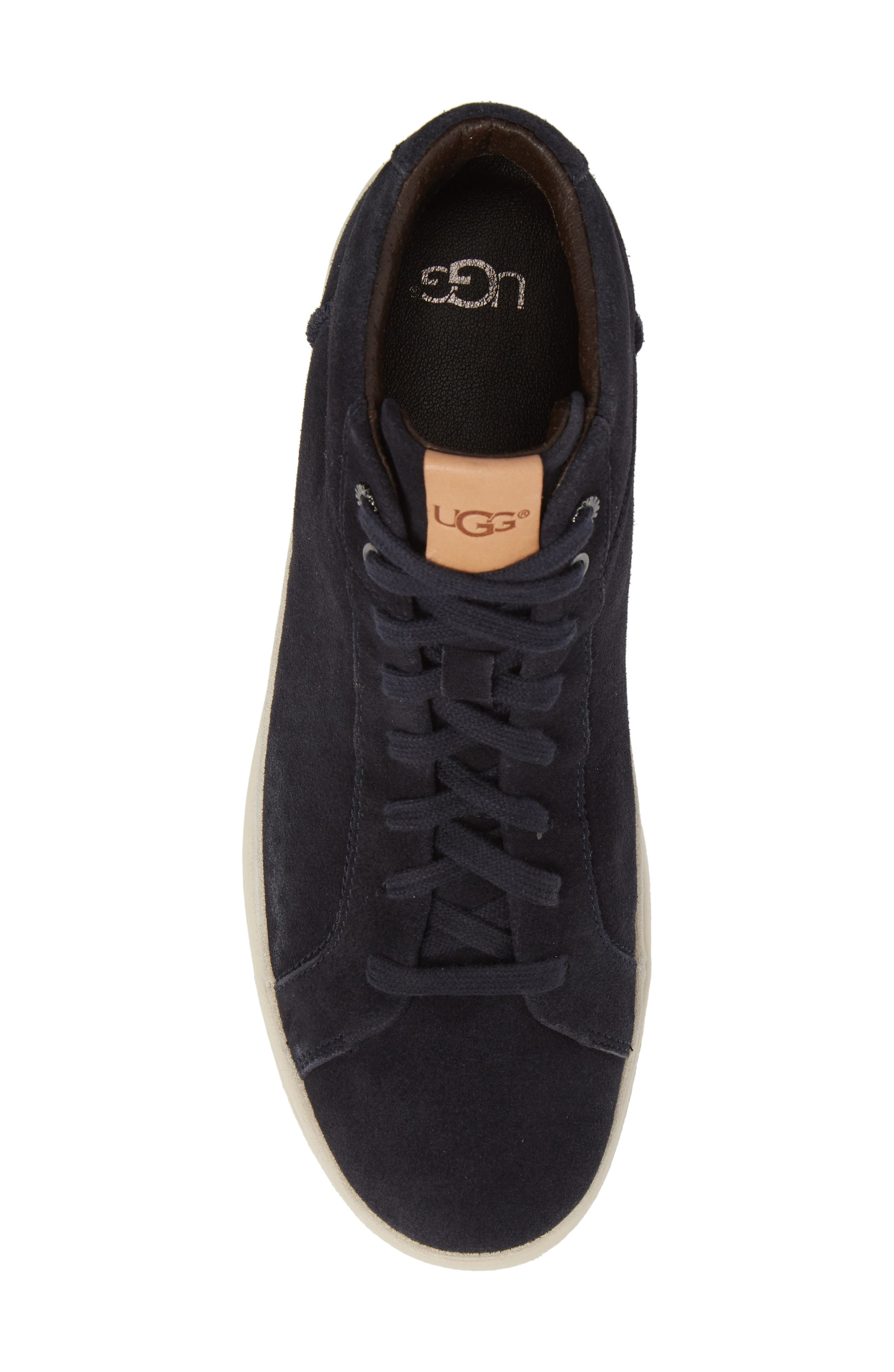 Cali High Top Sneaker,                             Alternate thumbnail 5, color,                             NAVY LEATHER