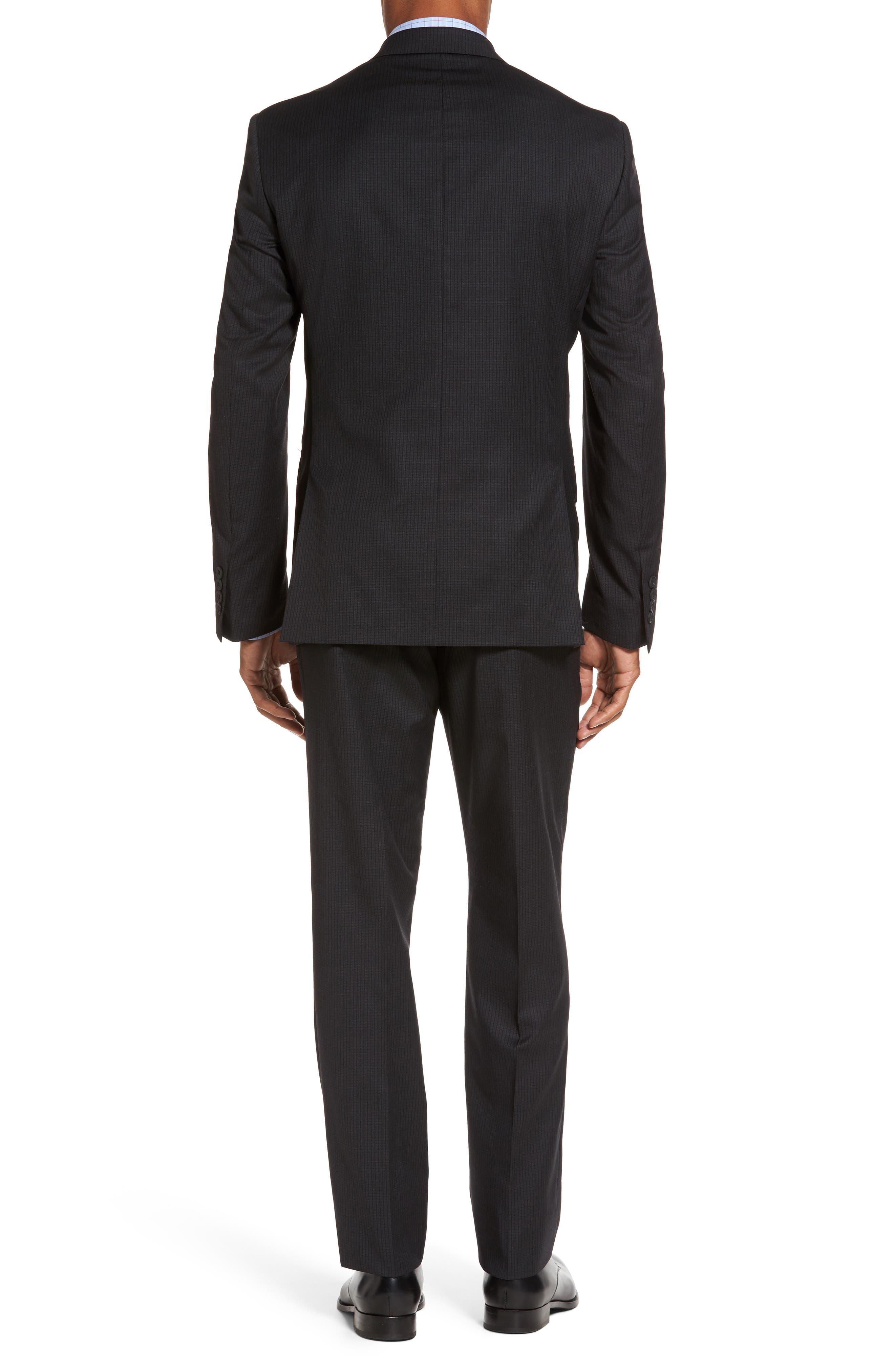 Classic Fit Check Wool Suit,                             Alternate thumbnail 2, color,                             001