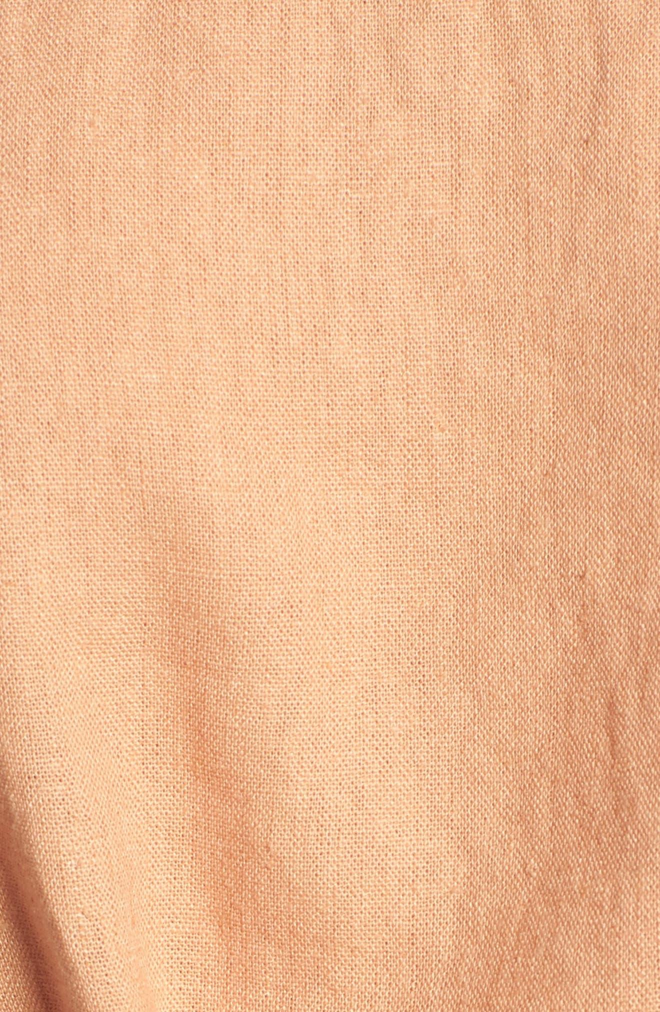 Tie Front Linen Blend Tank Top,                             Alternate thumbnail 13, color,
