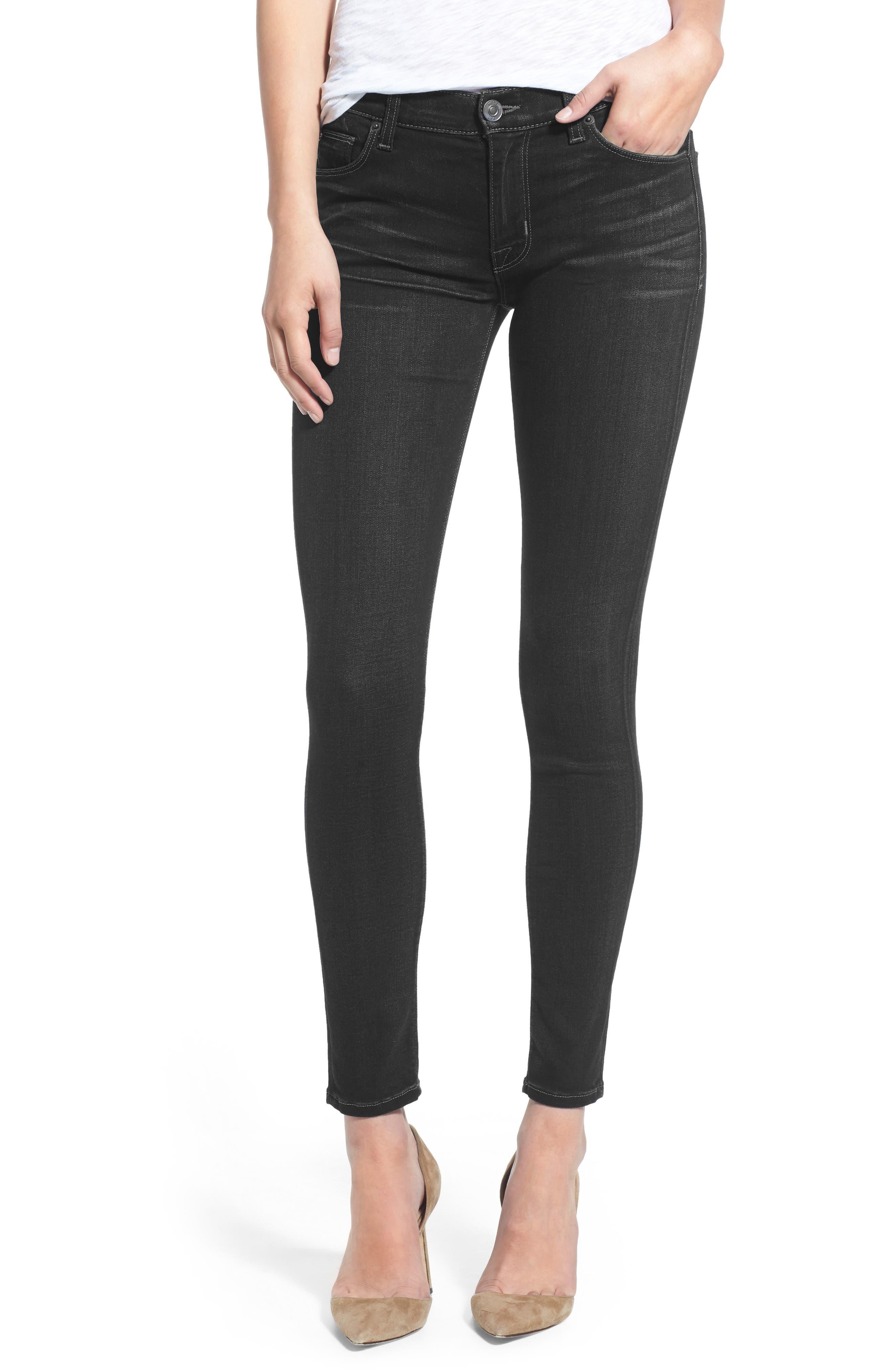 Nico Supermodel Super Skinny Jeans,                         Main,                         color, BLACK