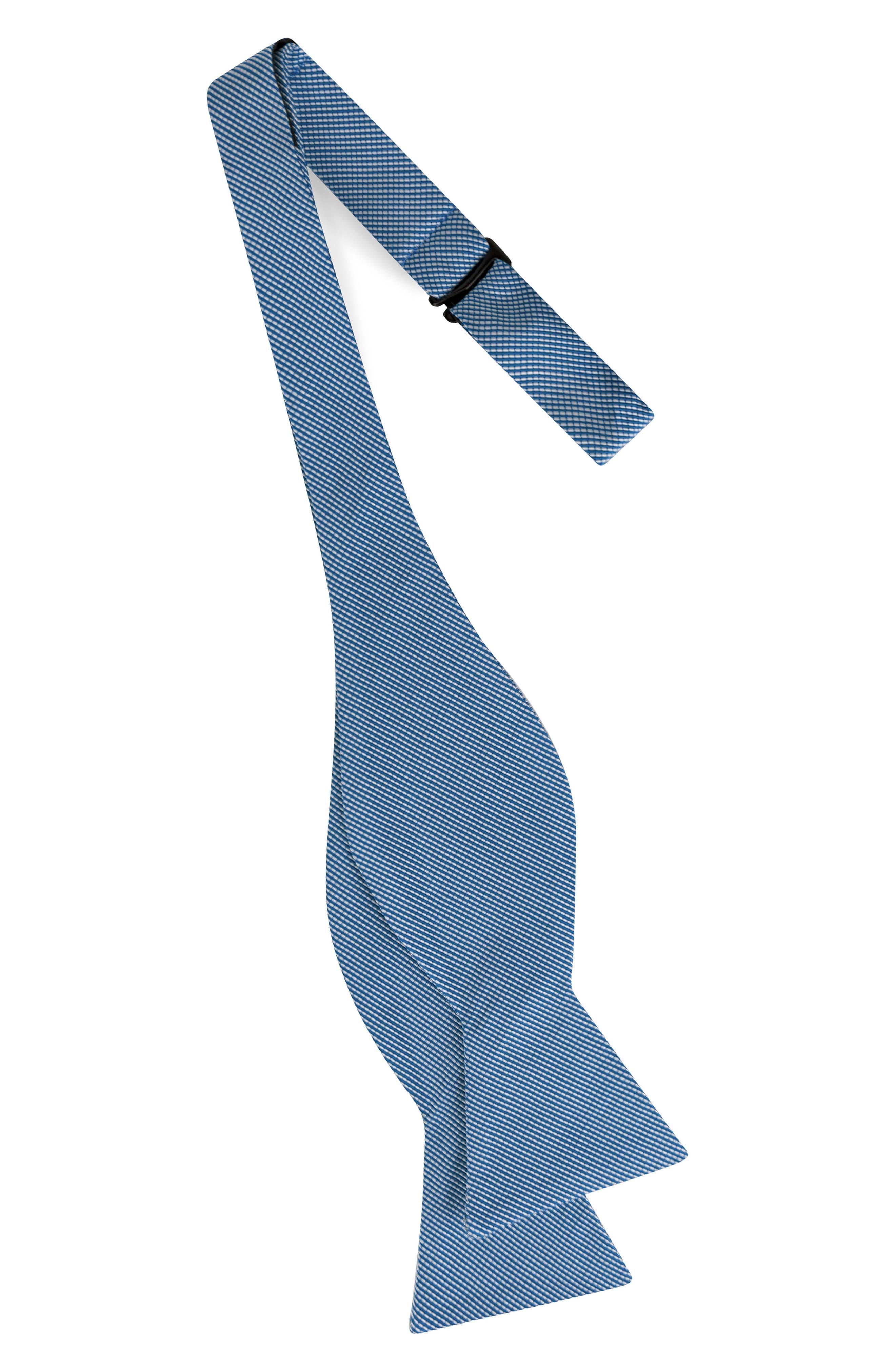 Mogador Stripe Silk & Cotton Bow Tie,                             Alternate thumbnail 2, color,                             400