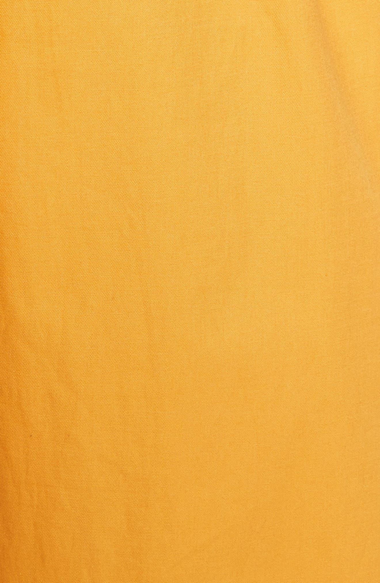 Sunrise Ruffle Midi Dress,                             Alternate thumbnail 5, color,                             800