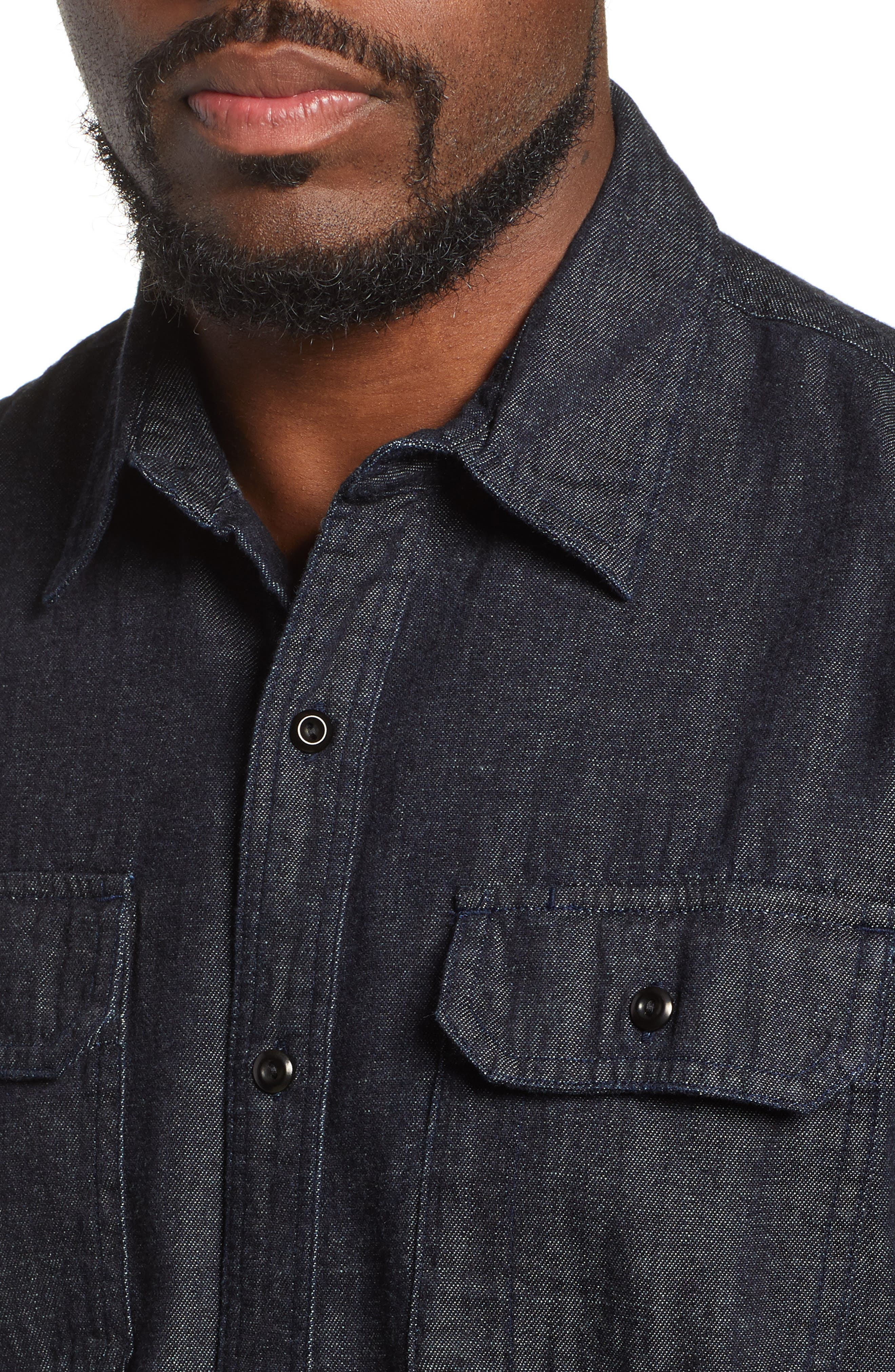 Benning Chambray Slim Fit Utility Shirt,                             Alternate thumbnail 2, color,                             020