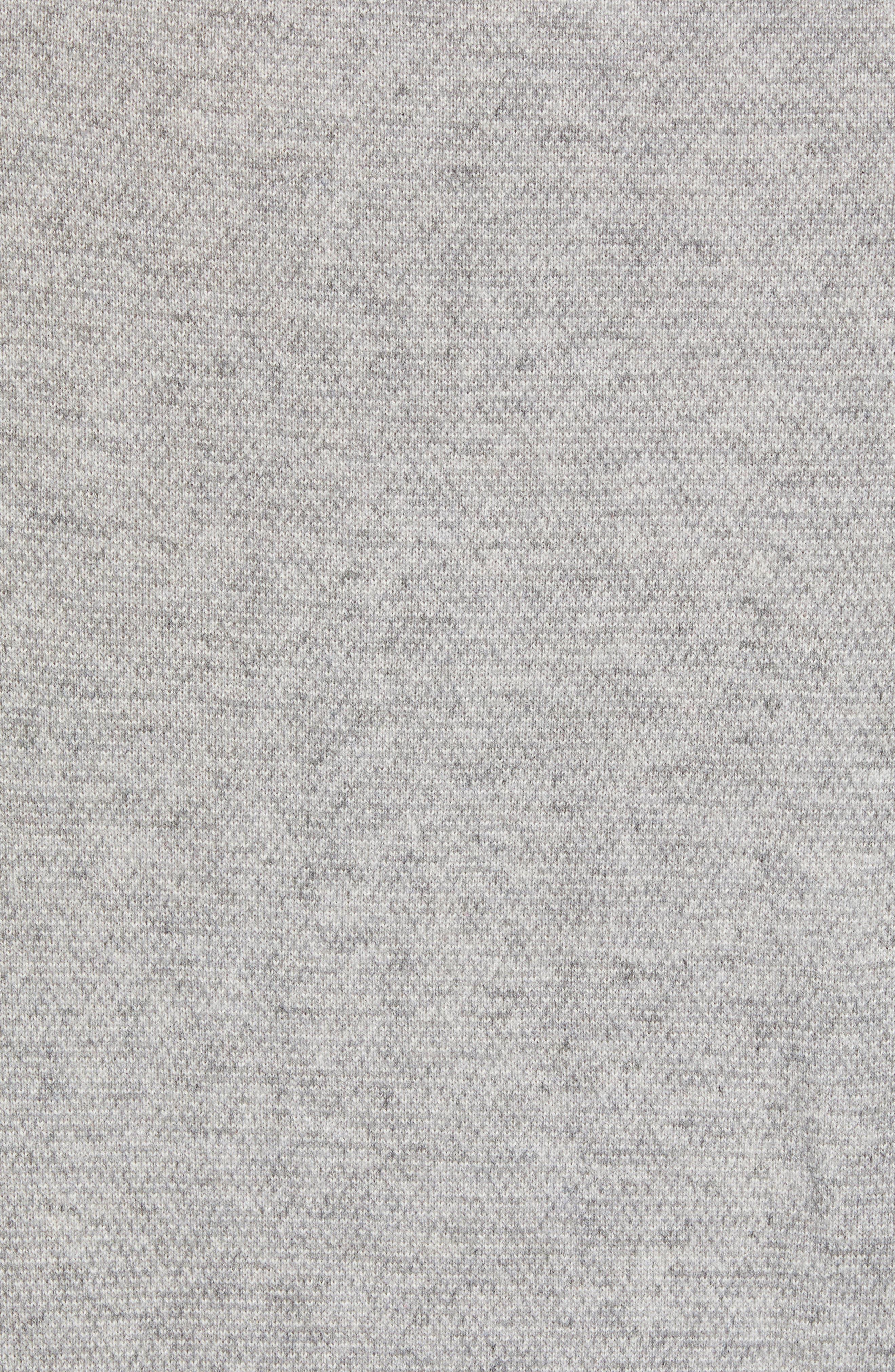 Bird's Eye Sweater,                             Alternate thumbnail 5, color,                             H GREY/ PEARL